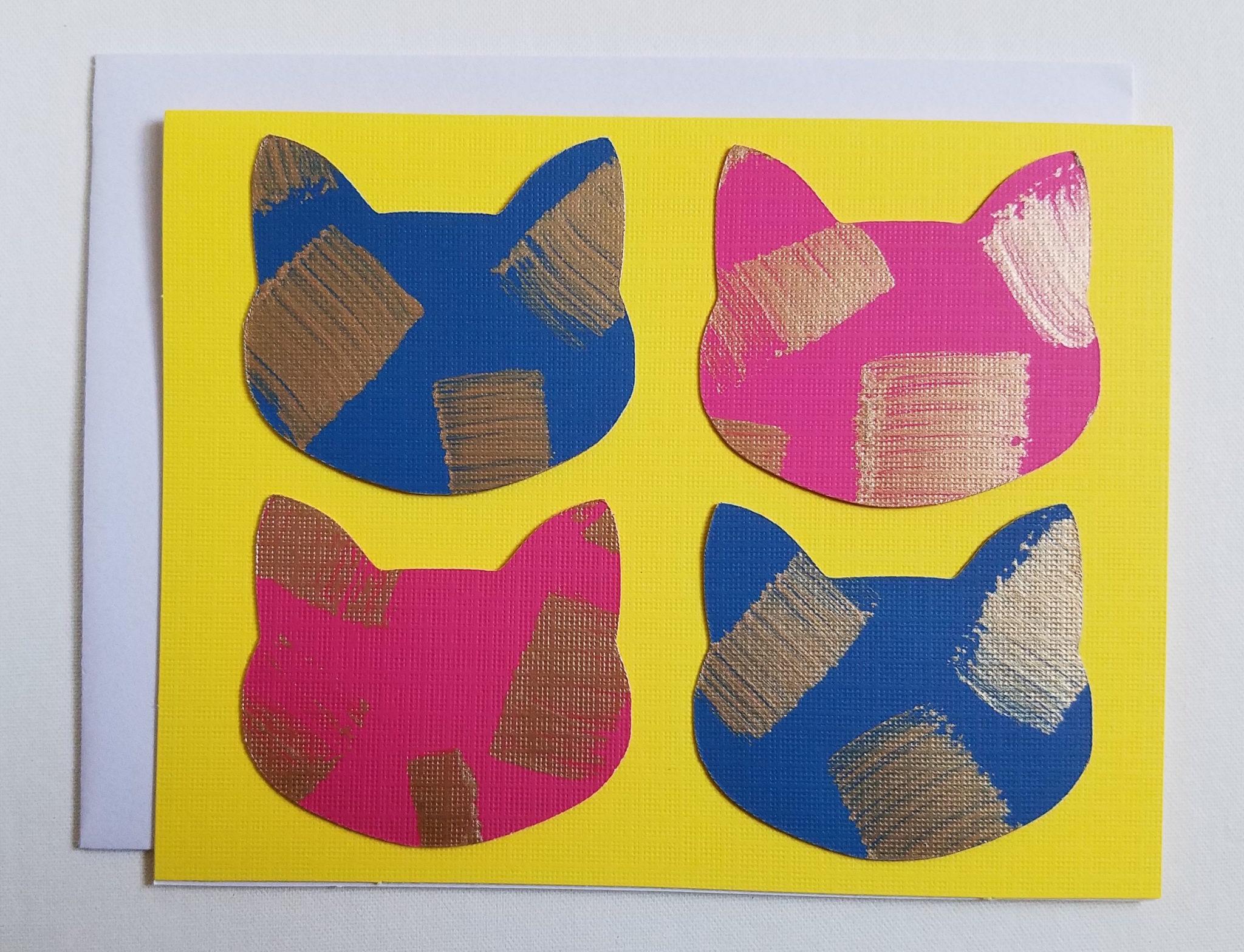 Yellow Warhol Card