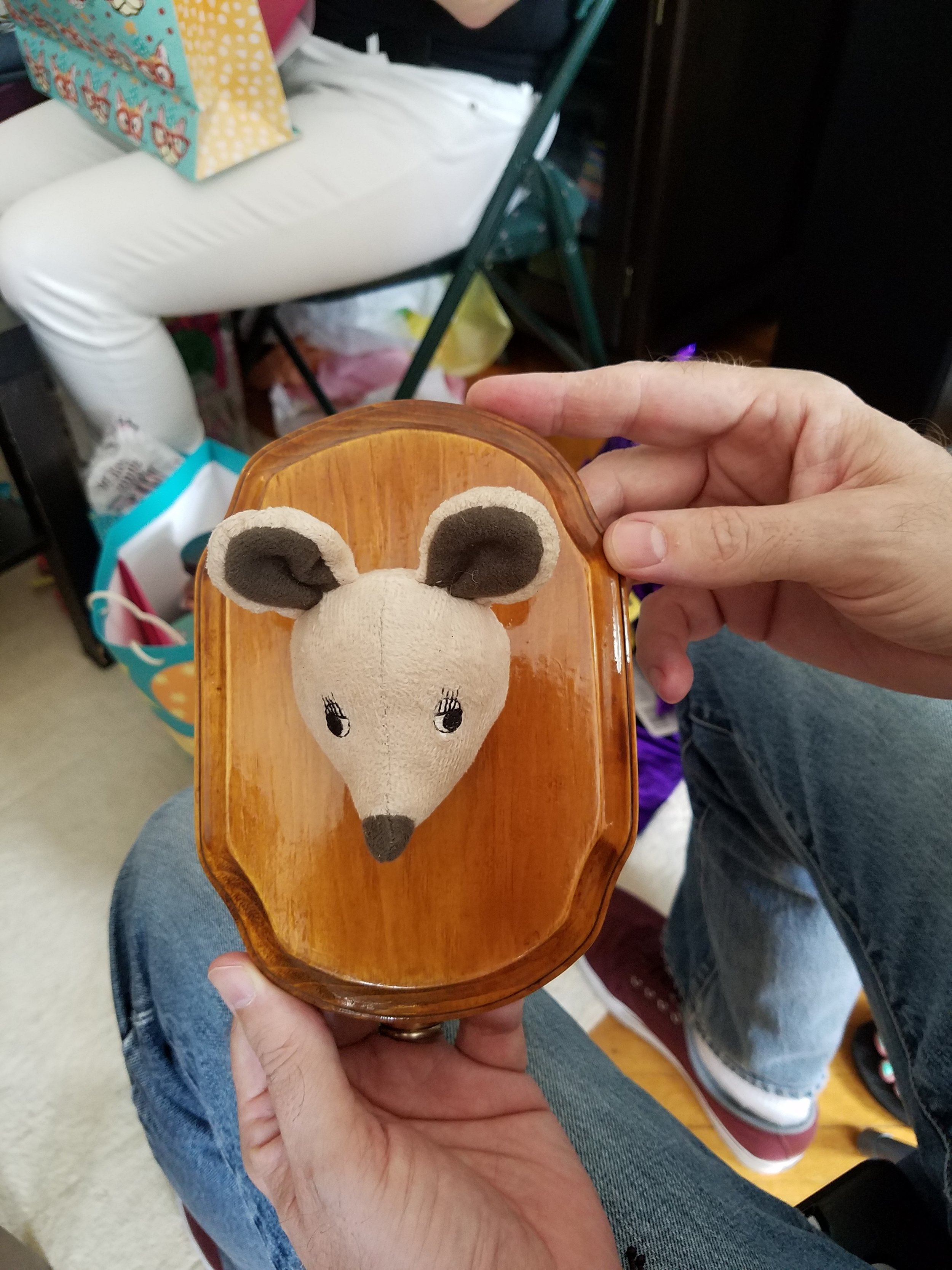 This mouse head trophy was the most adorable thing I've ever seen. Turns out, it was HAND MADE by one of the guests and I firmly believe she needs to quit her job and just make these for a living.