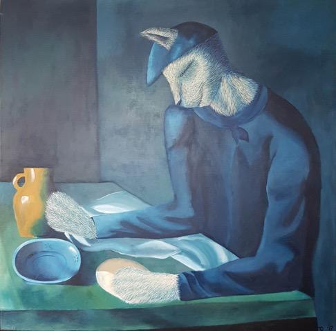 """""""Blind Cat's Meal"""" by Sol Felpeto"""