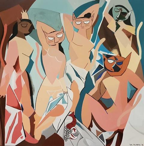 """""""Las Gatas de Avignon,"""" by Sol Felpeto"""