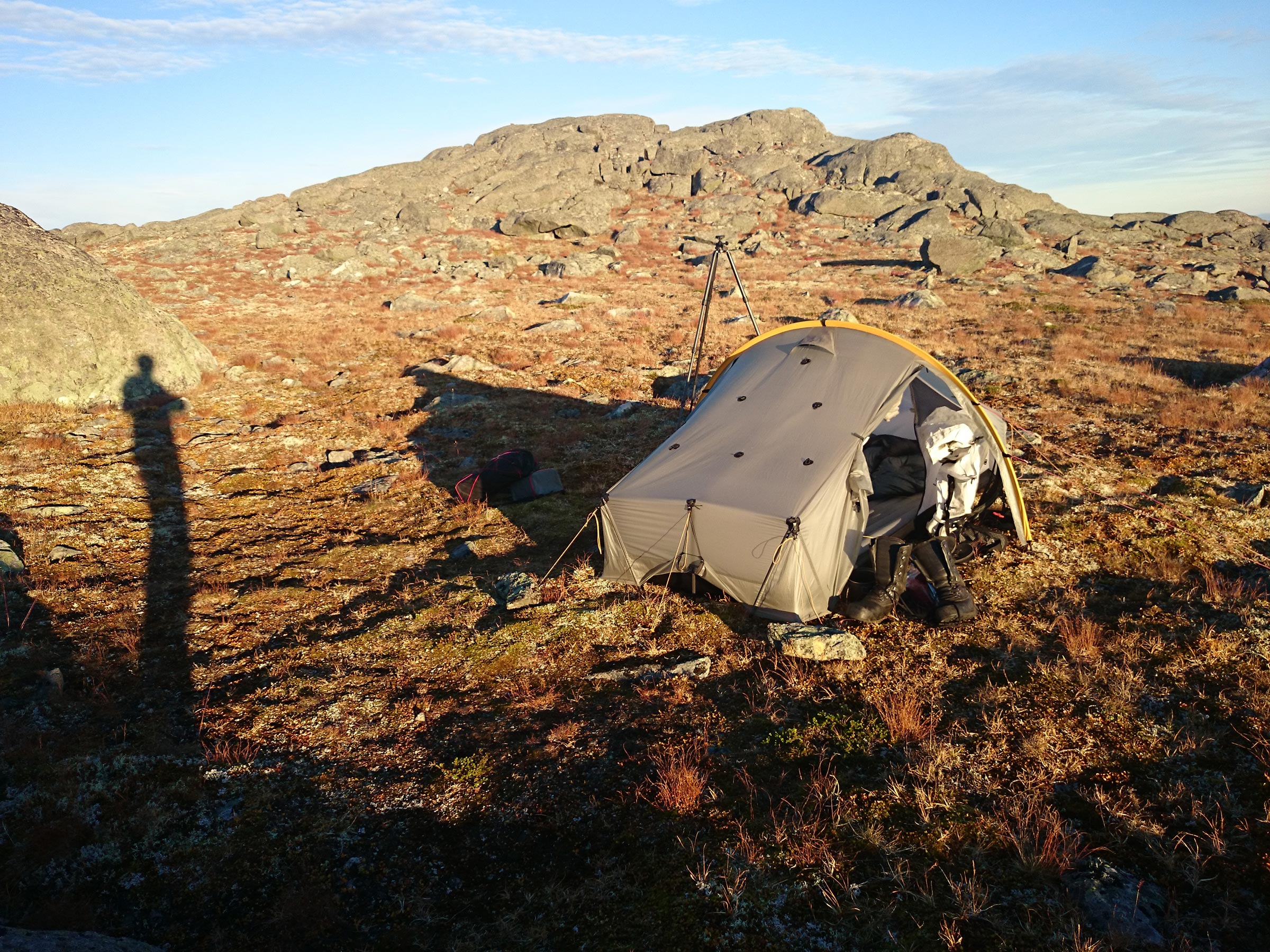 Campsite in Sarek National Park on a wonderful September afternoon. Life is good!