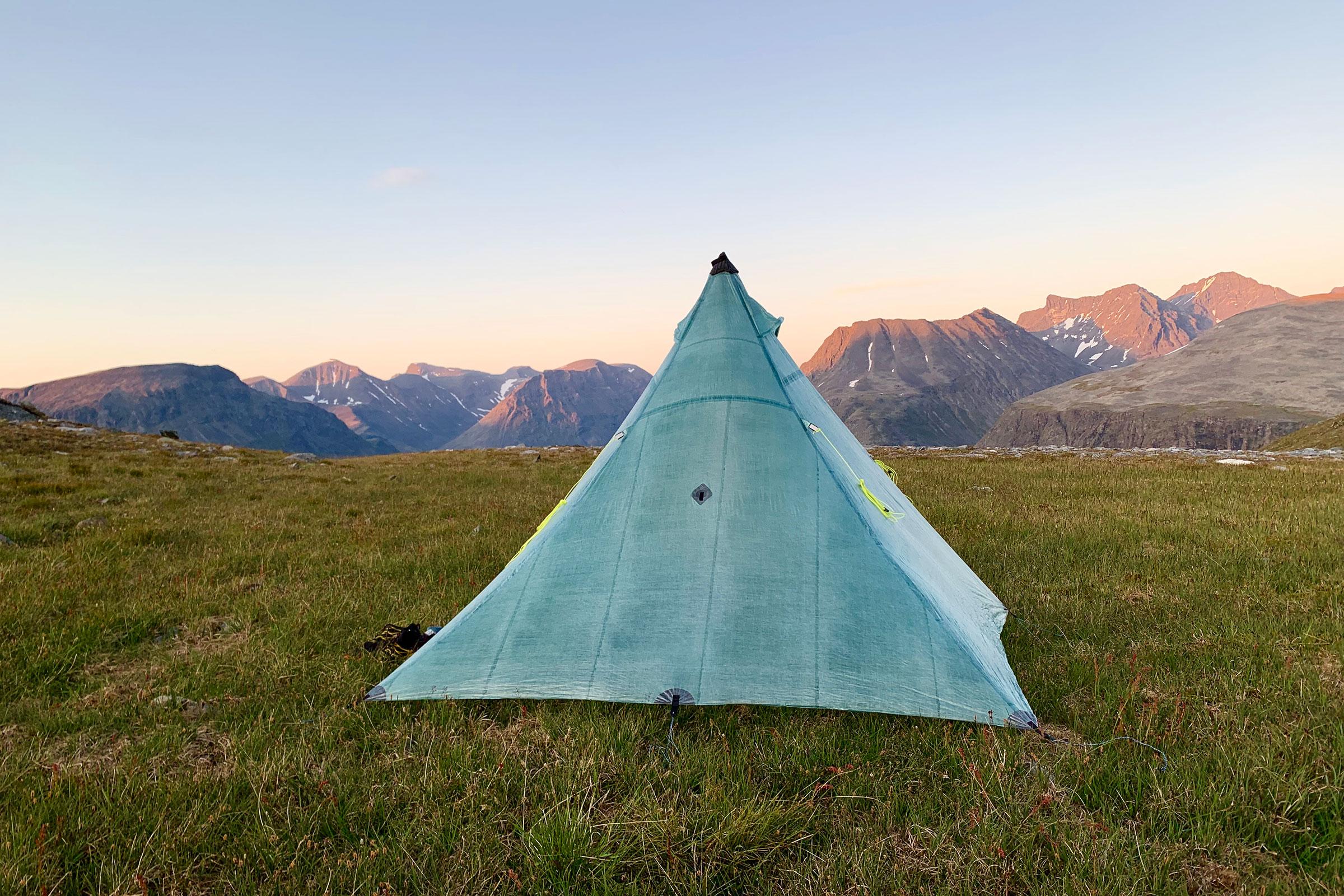 Campsite in the heart of Sarek National Park.