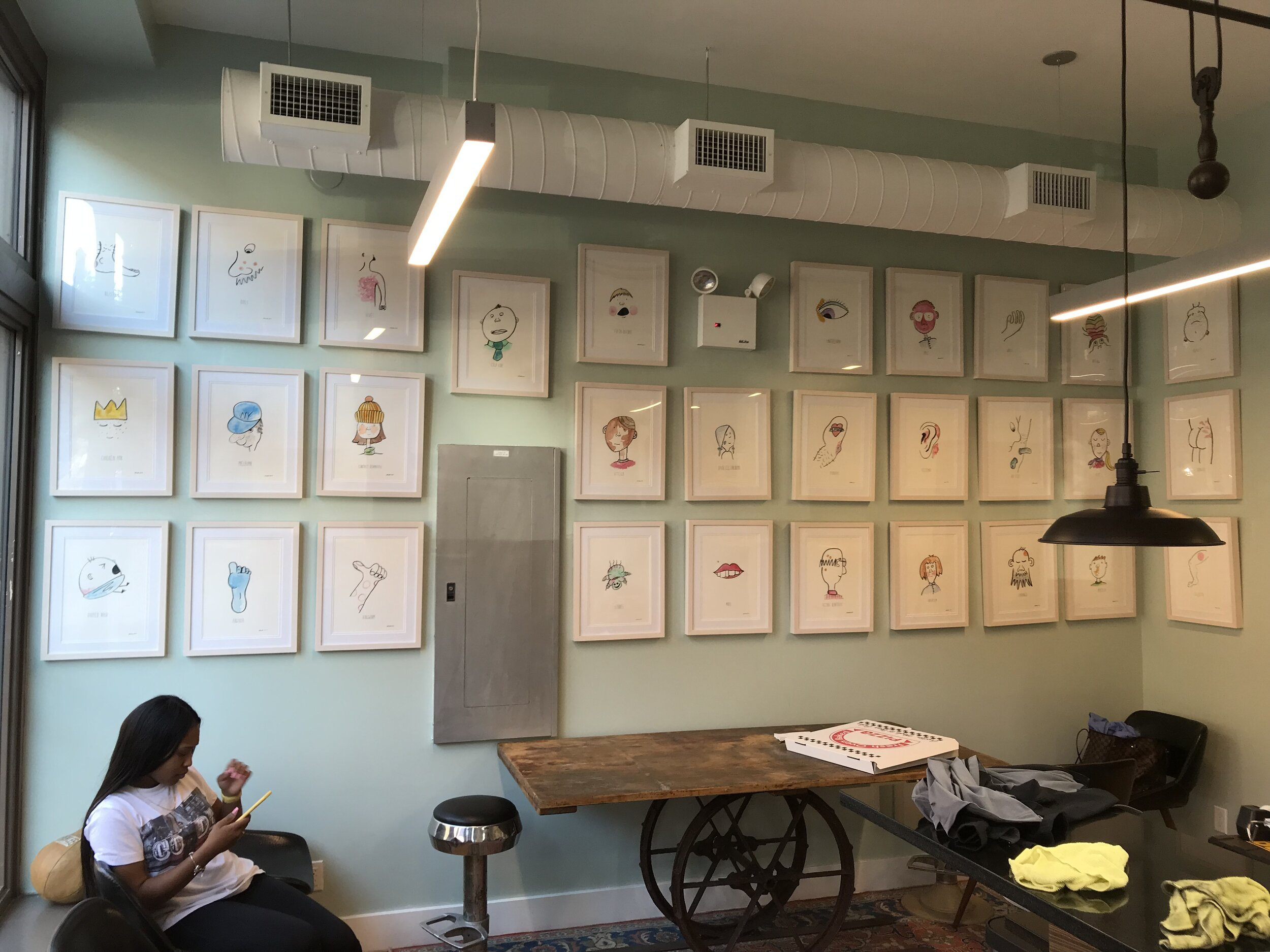 Dermatology Specialists - The Dermatolgy Specialists - A dermatology office in Greenpoint Brooklyn commissioned 30 paintings of various skin situations