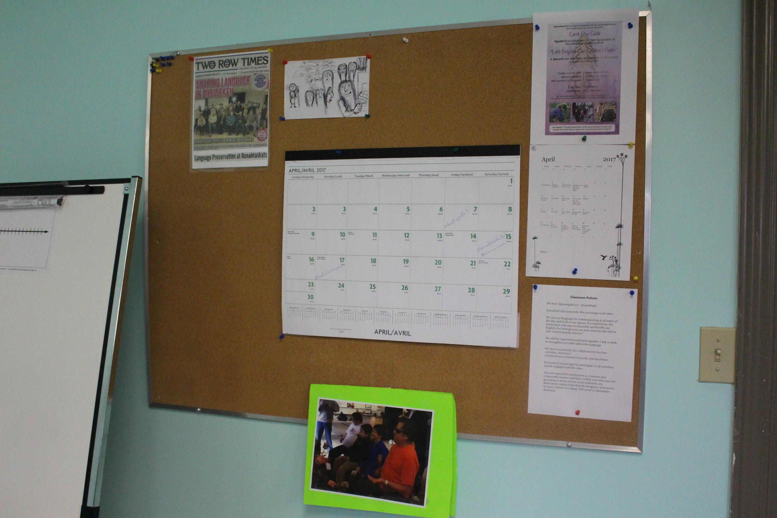Our community outreach calendar.