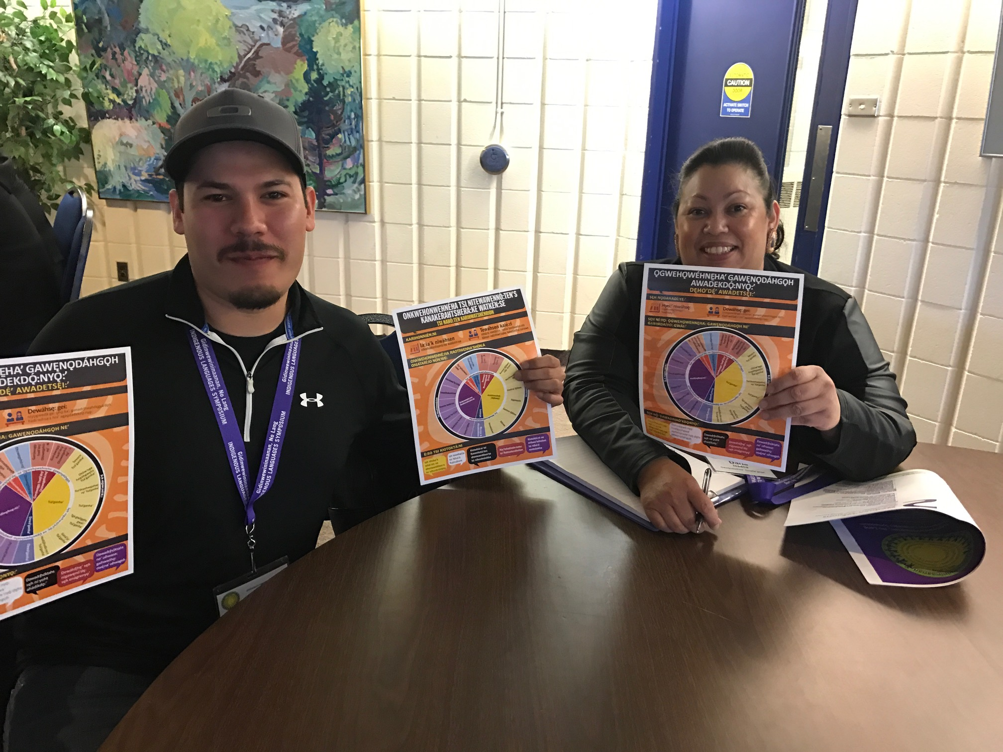 Attending the Indigenous Languages Symposium in Thunder Bay, ON: May 29 - June 1, 2017   Pictured: Ely Longboat, Program Manager and Instructor and Darla Henry, Co-Instructor and Program Admin