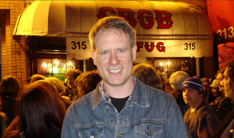 Randy at the closing night of CBGB, October 15, 2006.  Photo by Sheila Look.