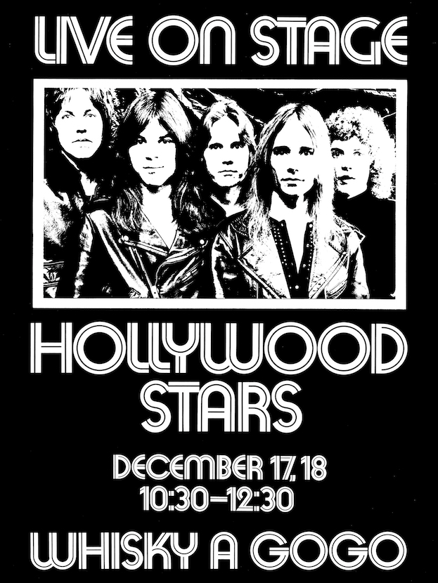 Poster for the band's debut concert, 1973