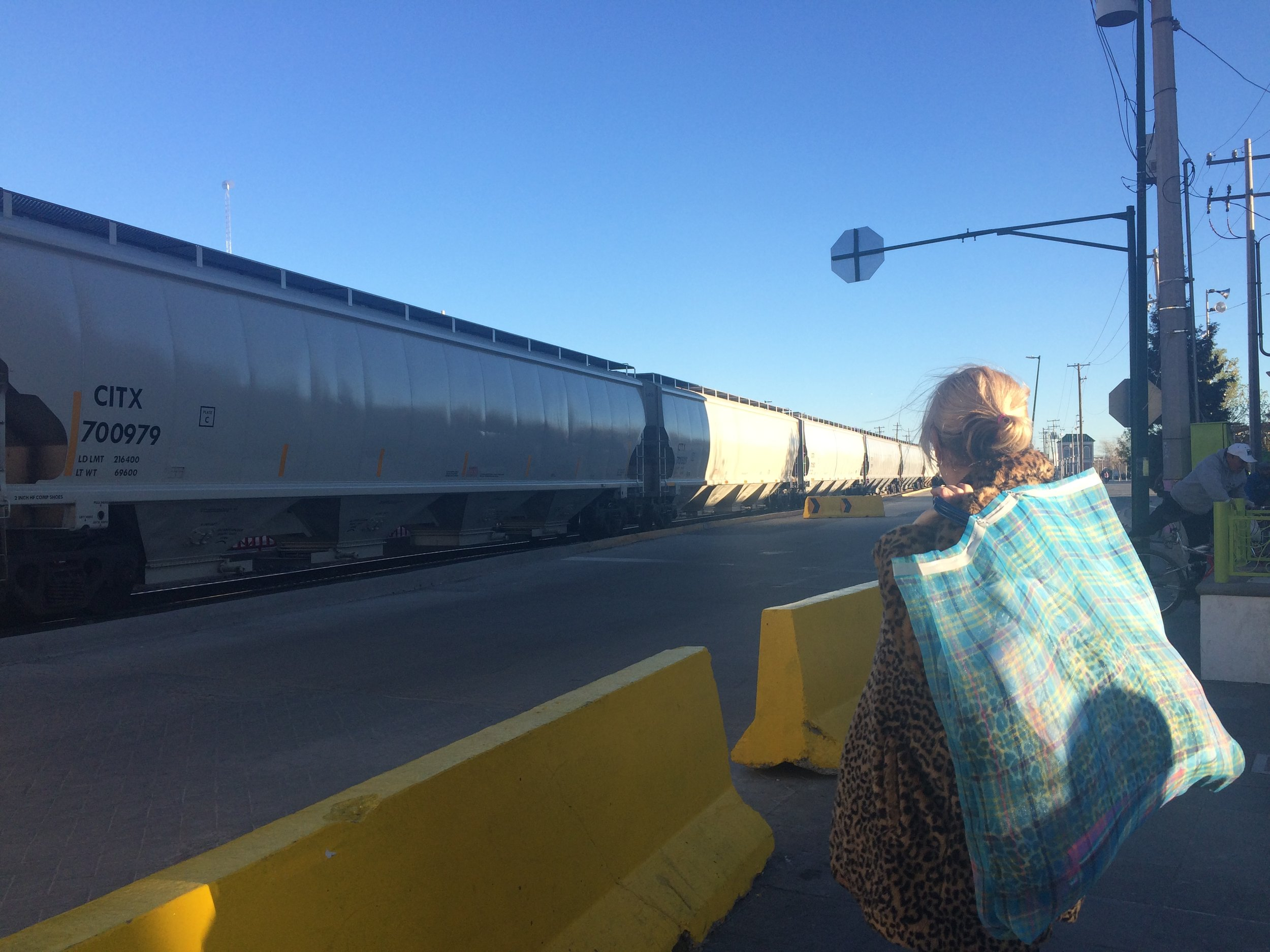 Image: Train going through Cd. Juárez and towards the USA / Photo Credit:  NI EN MORE