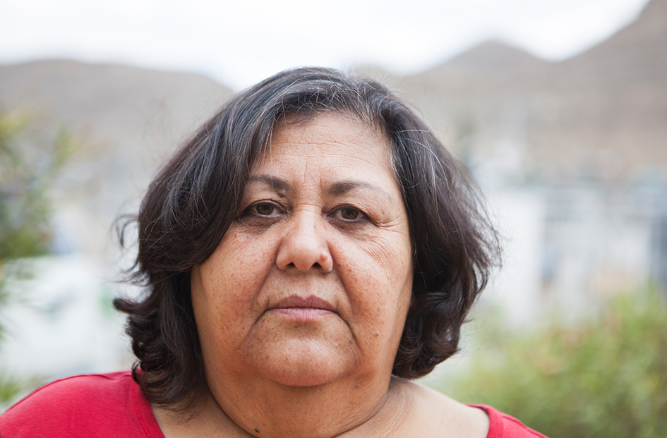 Elide Alvara / Mexico   Elide Alvara is a native of Ciudad Juárez, she has dedicated her entire life to sewing and worked for many years in the Maquilladora Industry. Like many women before her, she is affected by the dynamics of the city. Because of her skill and work-ethic, she has often been the main economic provider for her family.  Elide is mentor for the sewing process in NI EN MORE  * Image by Laura Bustillos