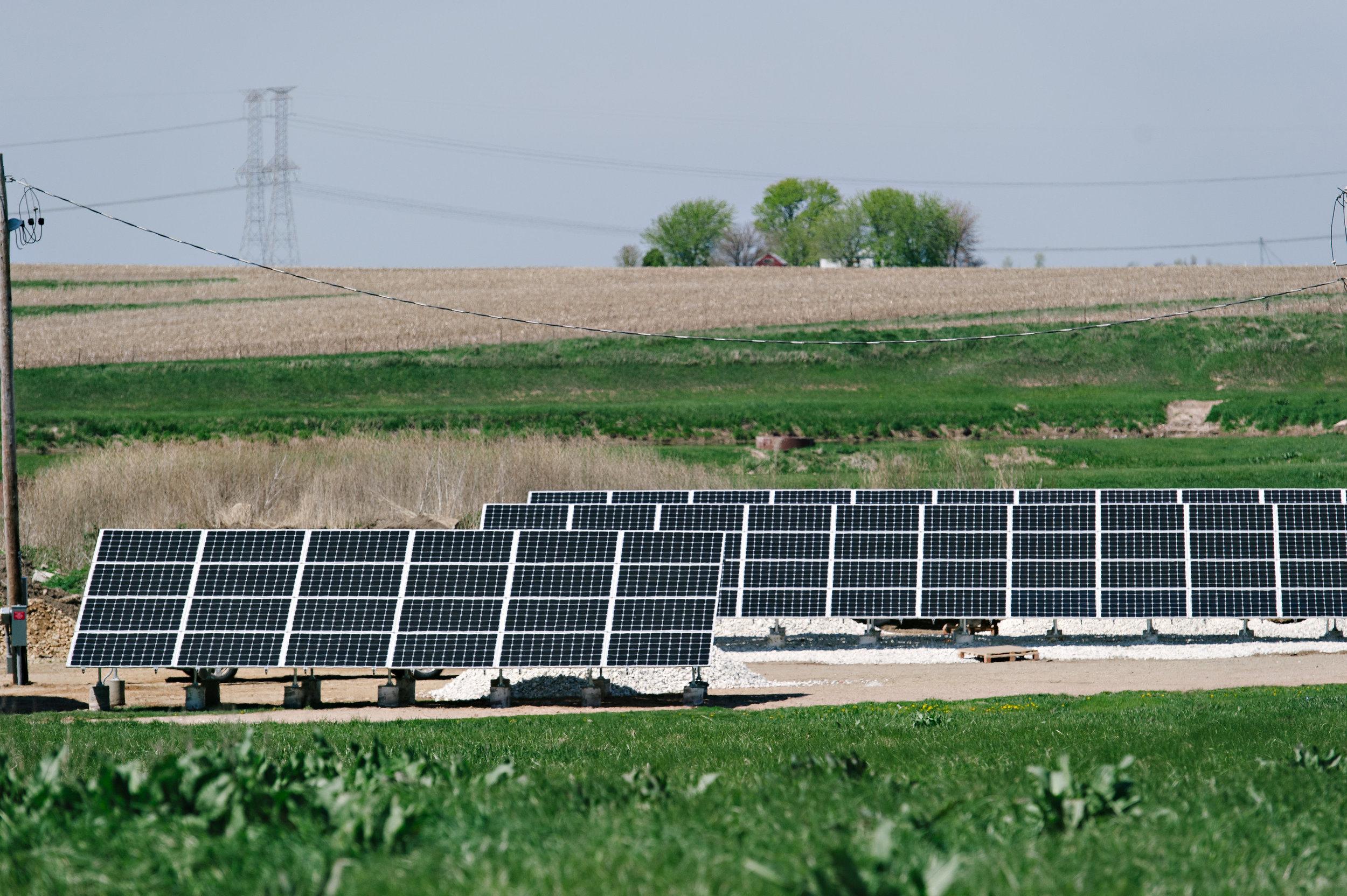 Peoria Illinois commercial solar array