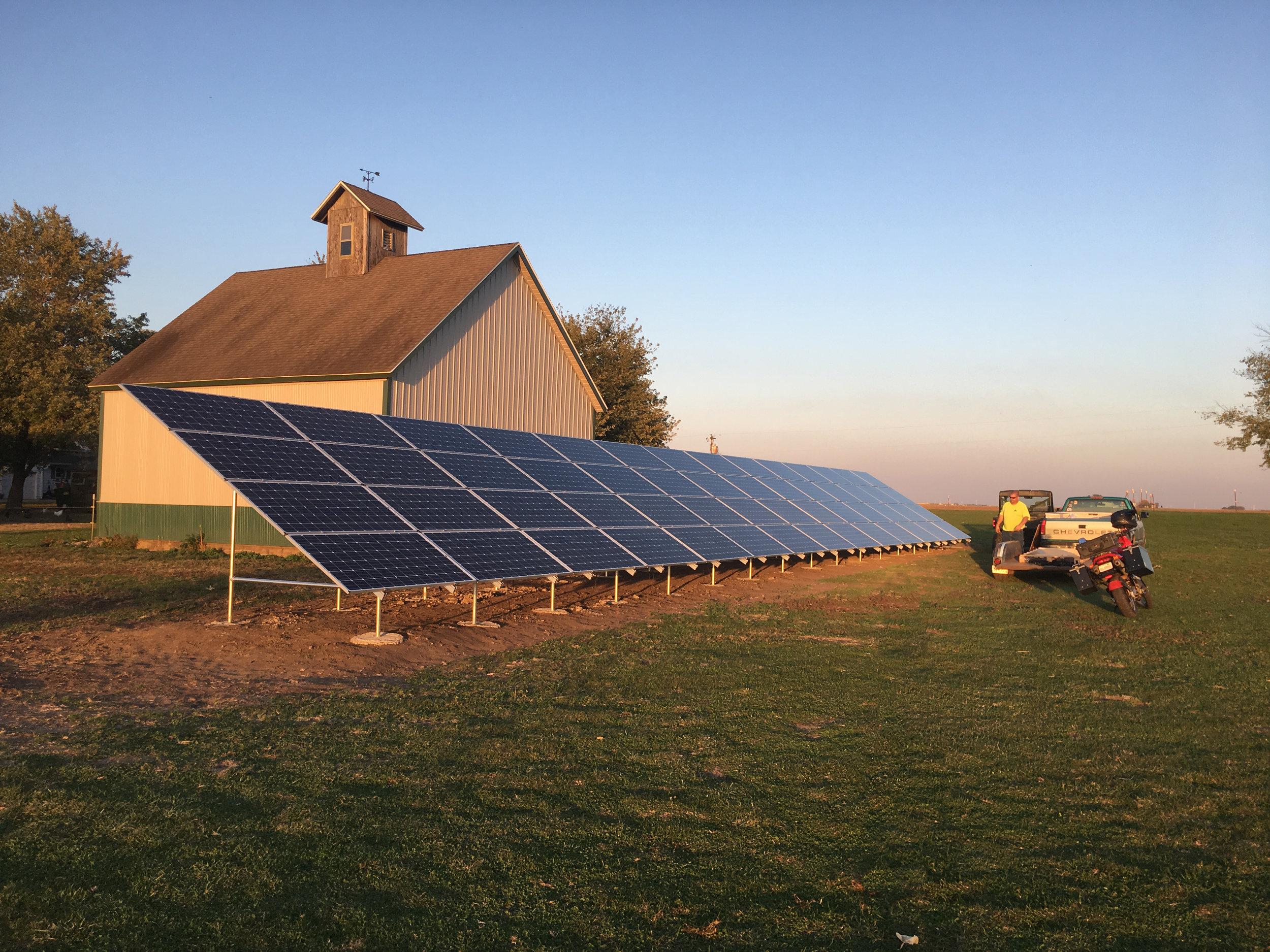 Delevan, Illinois Farm Solar Array