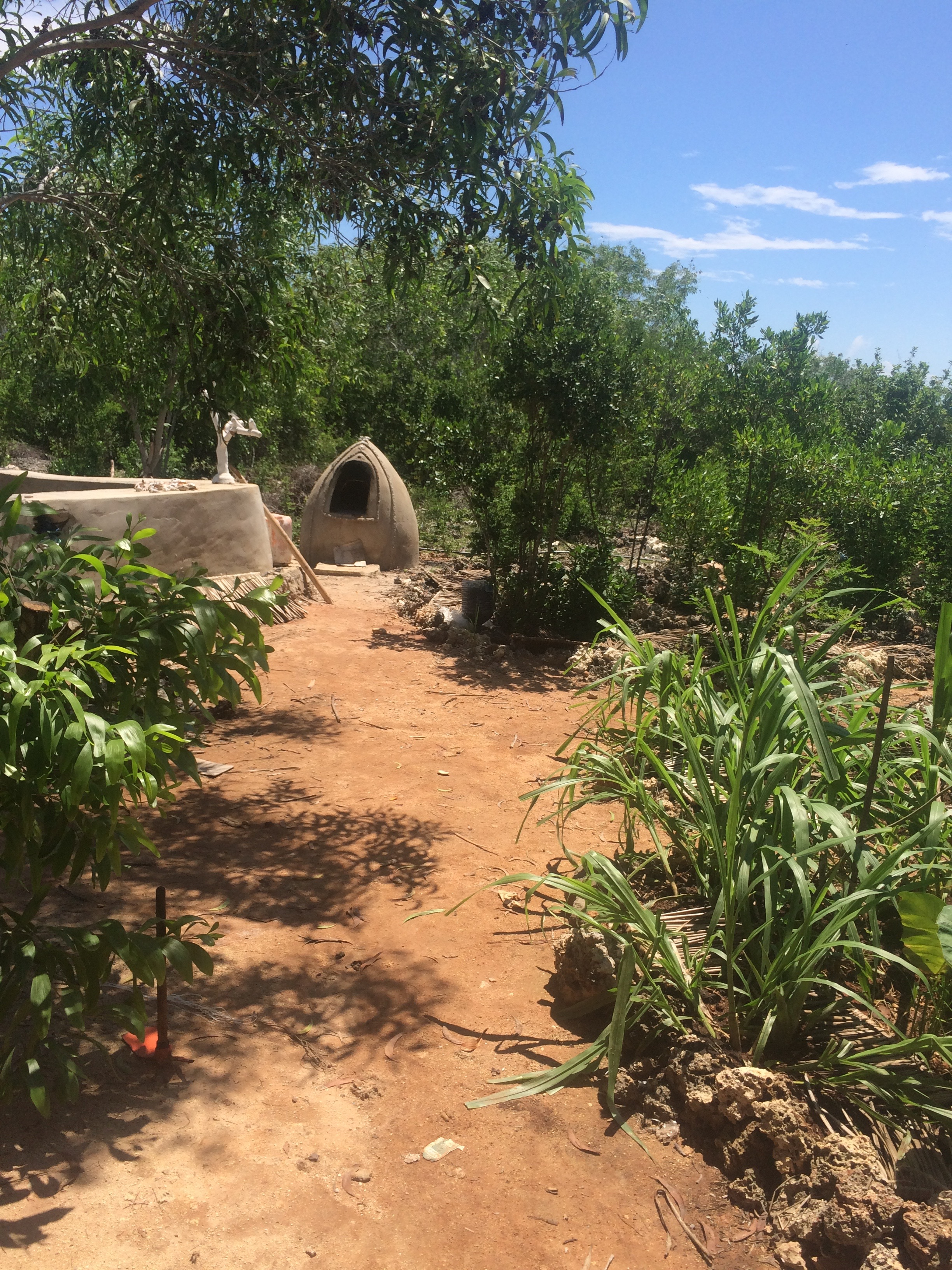 The garden and oven made of clay