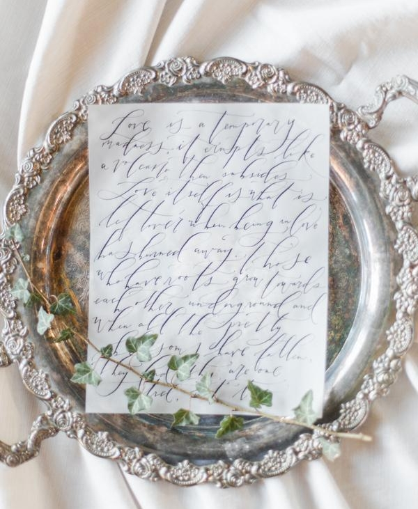 Custom Wedding Vows or Love Letters by Sarah Pearl Studio, fine art calligraphy