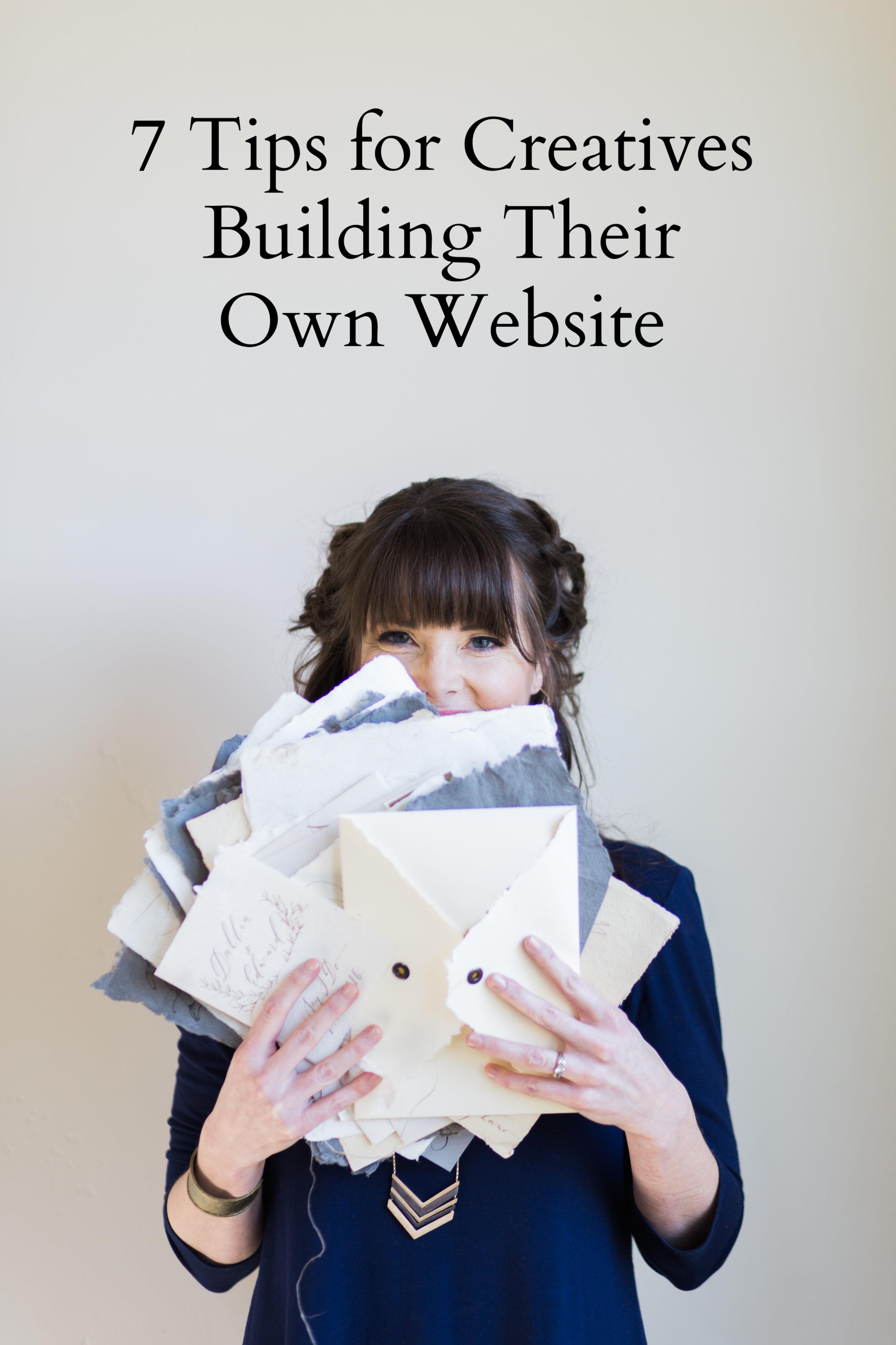 website tips from Sarah Pearl Studio
