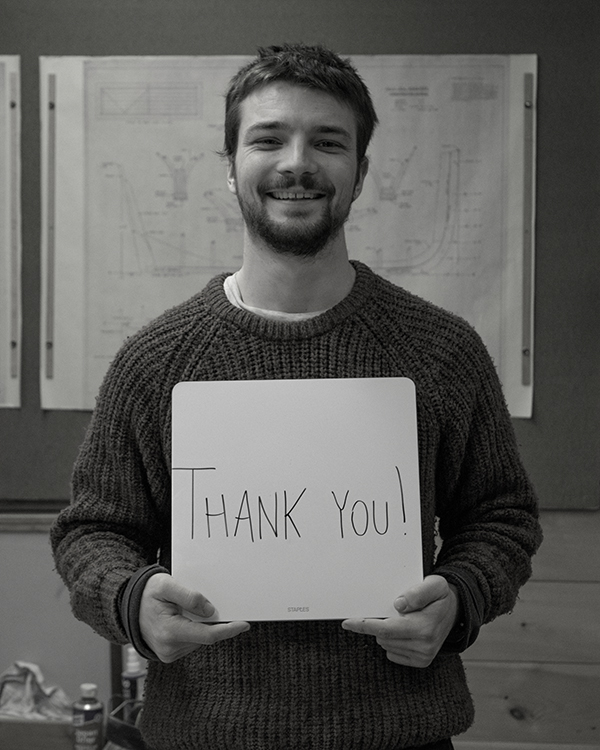 Meet Apprentice OWEN - Owen is in his second year as an apprentice boatbuilder and thanks you for your support of all our programs, building and sailing alike!From All of us at the Shop, THANK YOU.