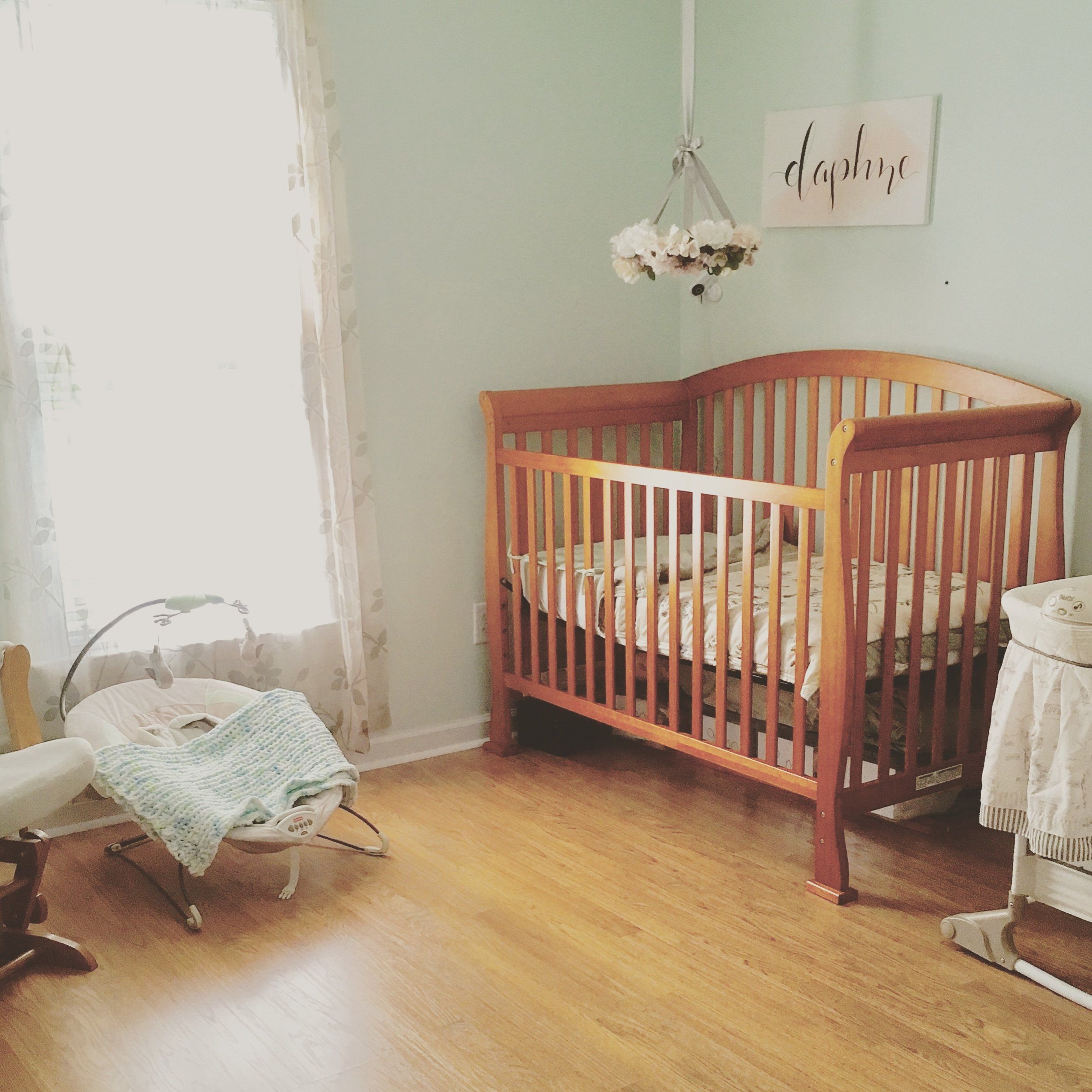Green and Pink Nursery by Raleigh Calligraphy
