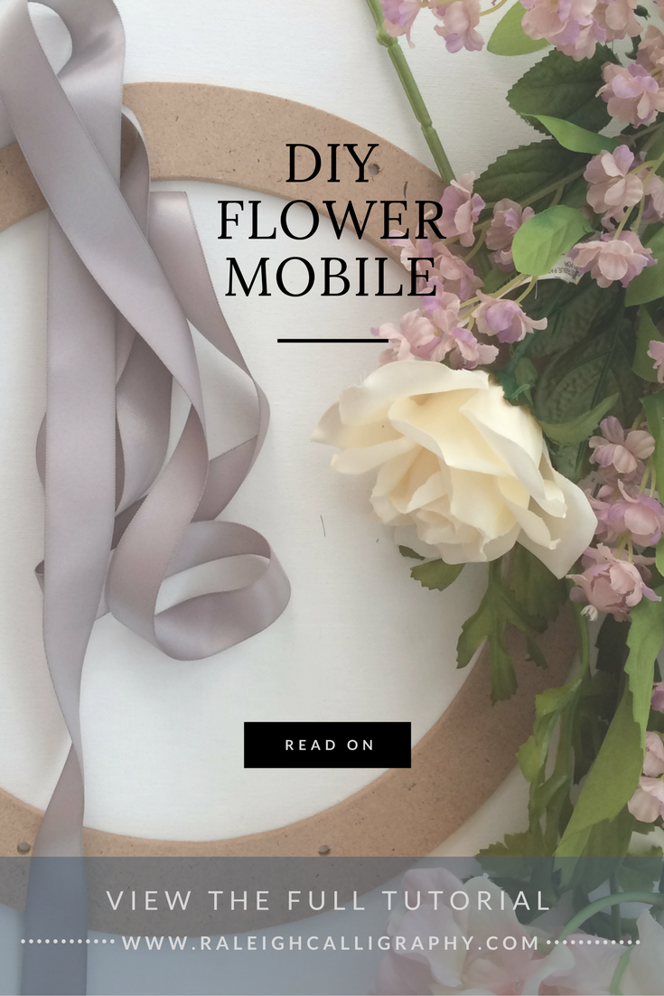 Best Floral Nursery Mobile You can make yourself by Raleigh Calligraphy