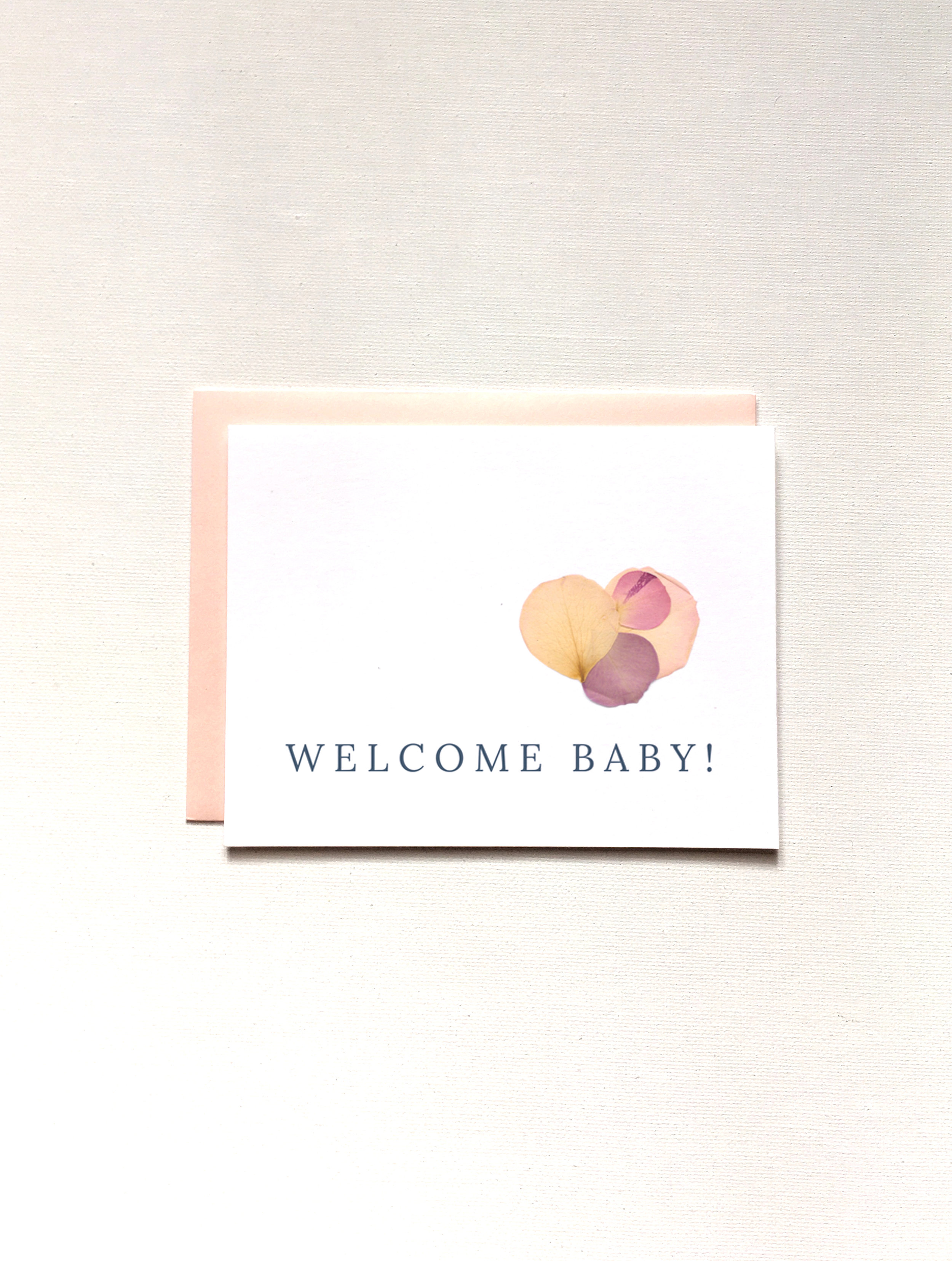 Welcome Baby, Baby Shower Card by Raleigh Calligraphy