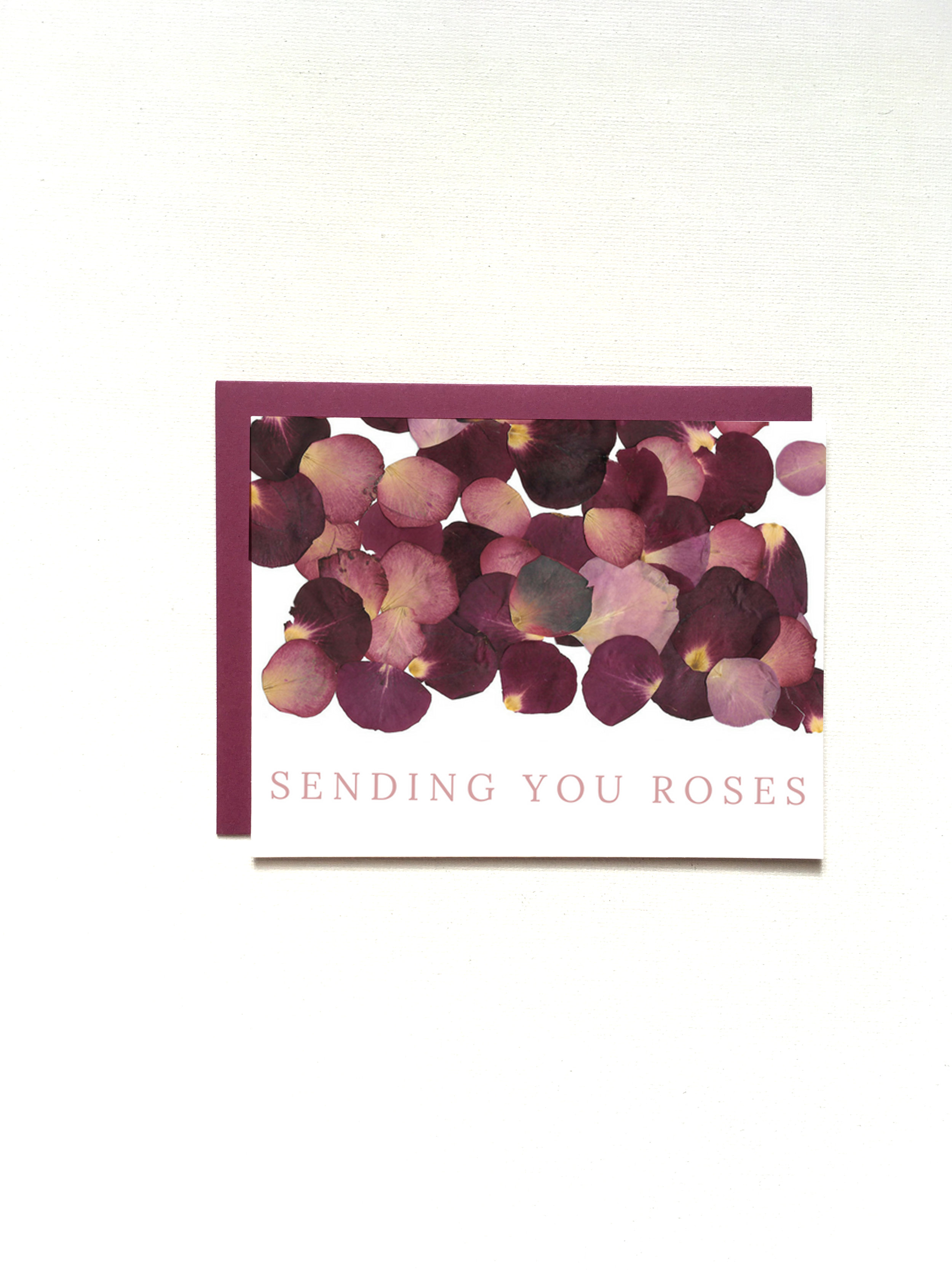 Sending You Roses Valentine's Day Card by Raleigh Calligraphy