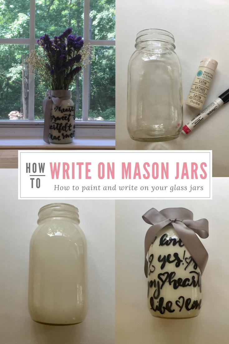 Write on Mason Jars bu Raleigh Calligraphy