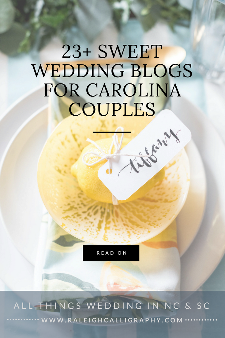 23+ Sweet Wedding Blogs for Carolina Couples