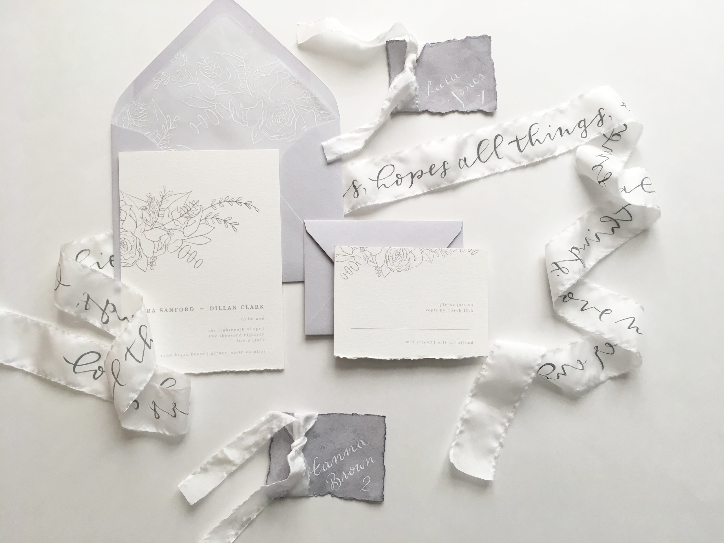 Invitation Suite by Raleigh Calligraphy & Design