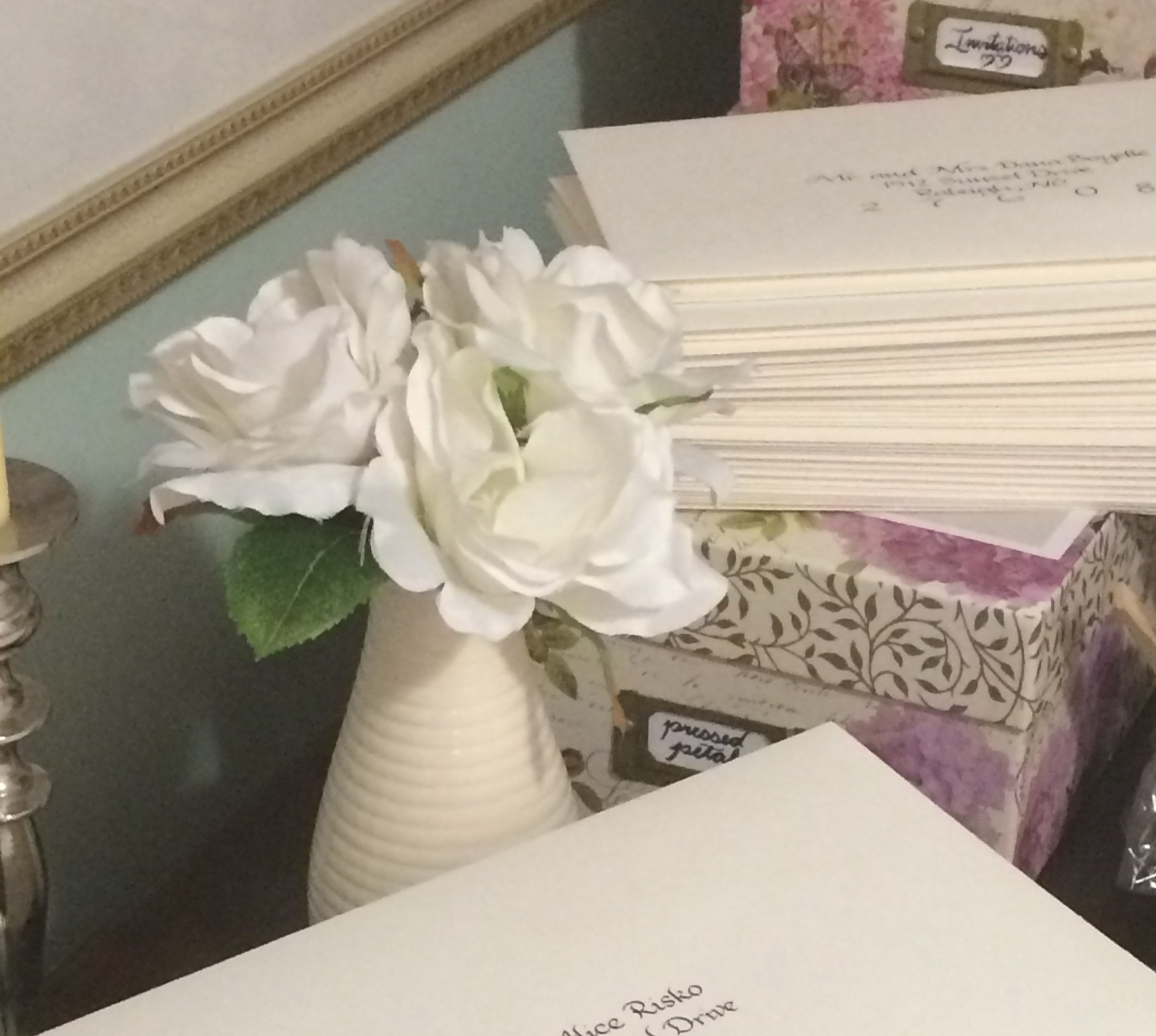 Piles of work, piling up. (Credit: Raleigh Calligraphy & Design)