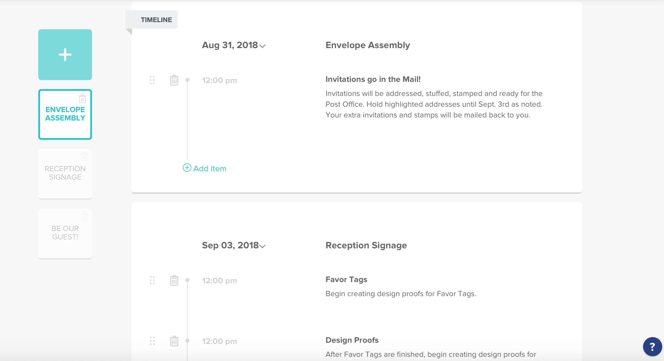 Timeline Templates for Creative Entrepreneurs via HoneyBook