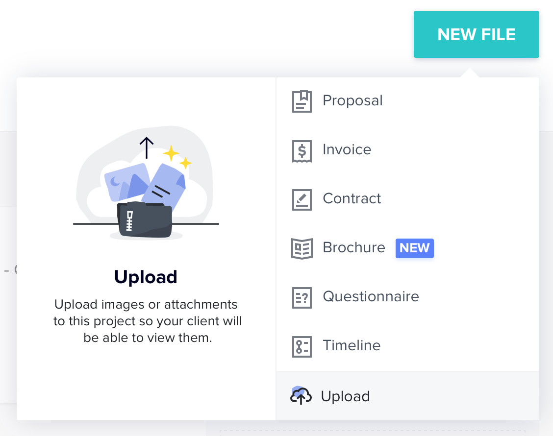 File Sharing - Perfect for keeping design proofs, mood boards and documents all in one place.