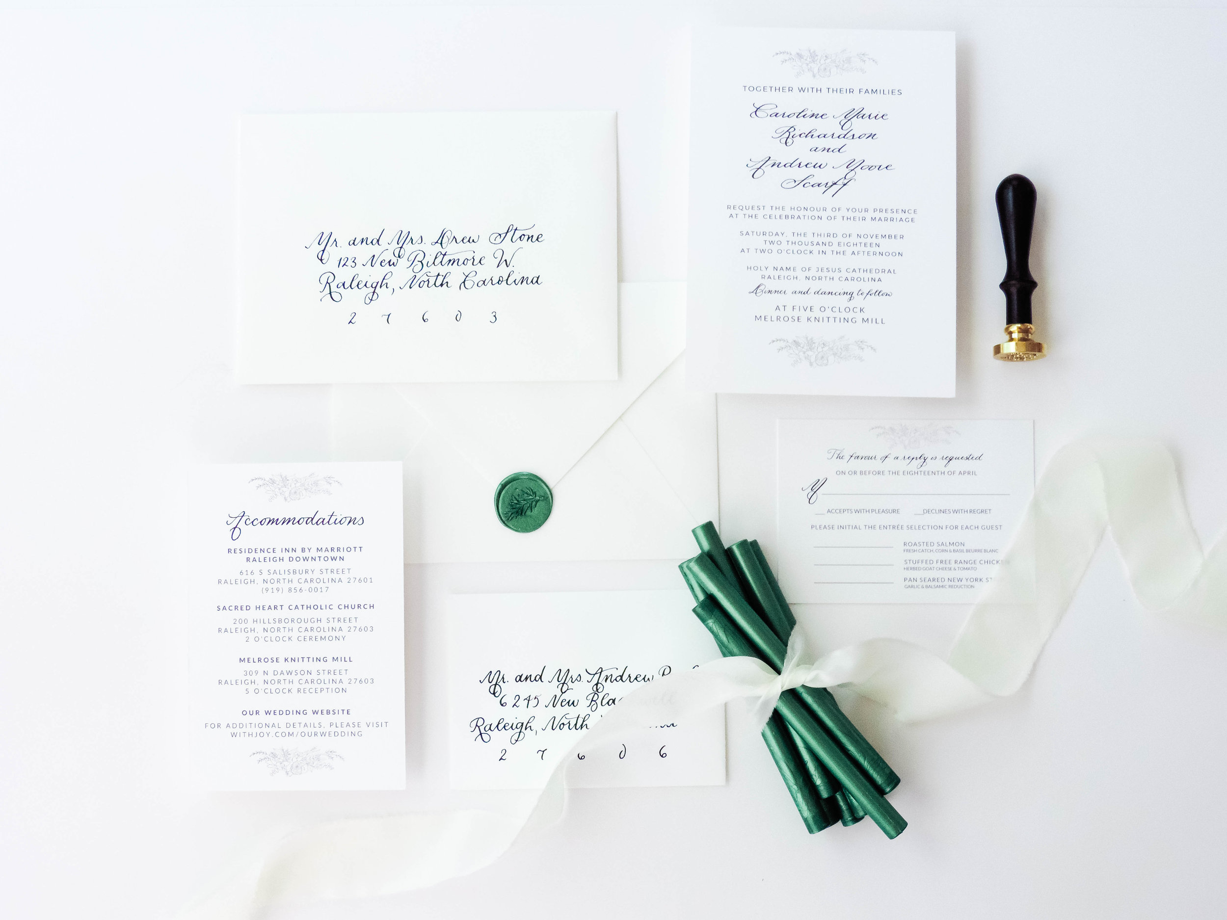 Pictured: Green Wax Sticks and Botanical Wax Seal Stamp by Uniqooo