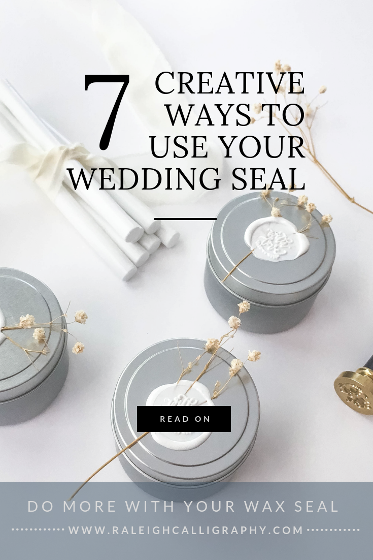 7 Creative Ways to Use Your Wedding Wax Seal by Raleigh Calligraphy & Design