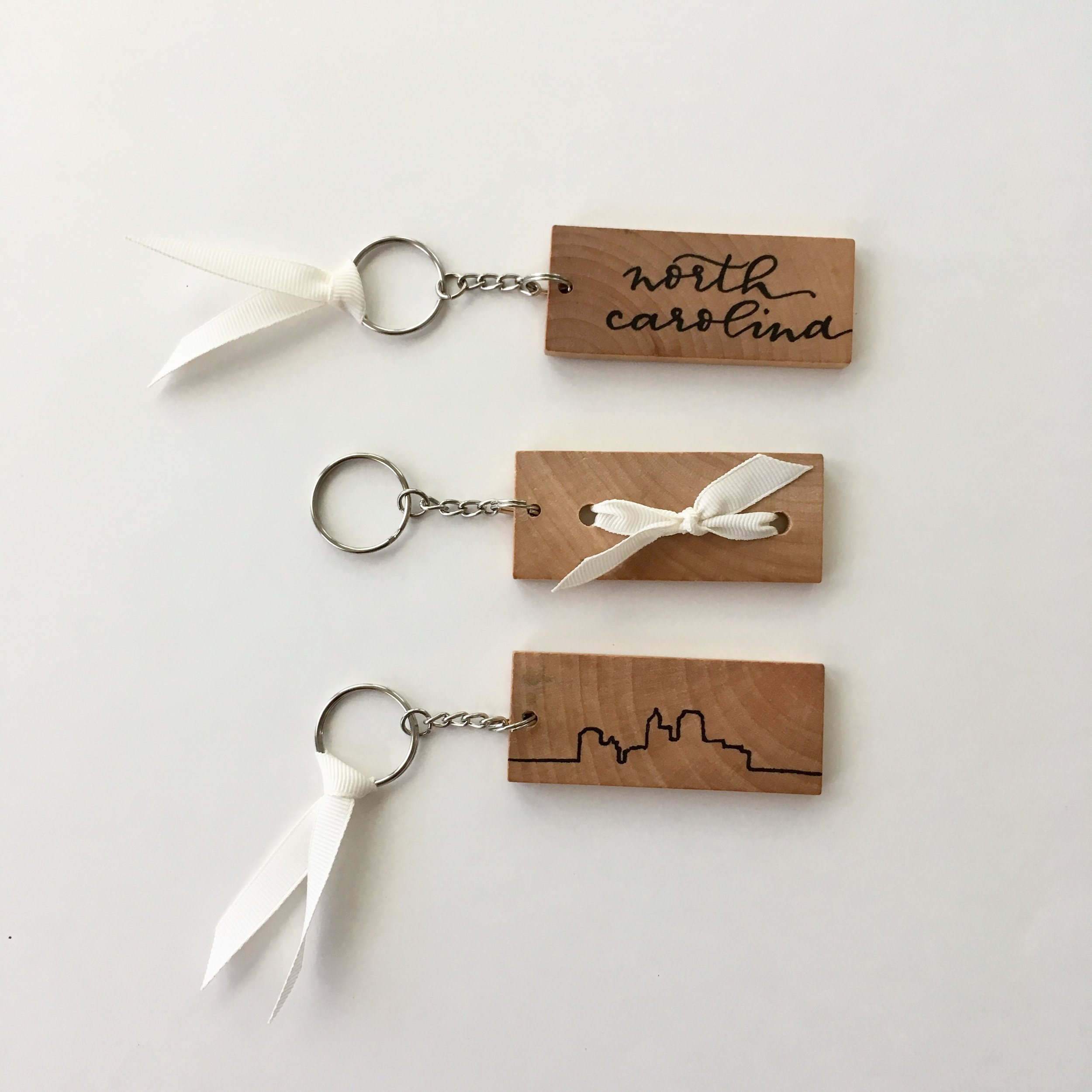 State Key Chains - The perfect keepsake key chain to celebrate a first home or a hometown.
