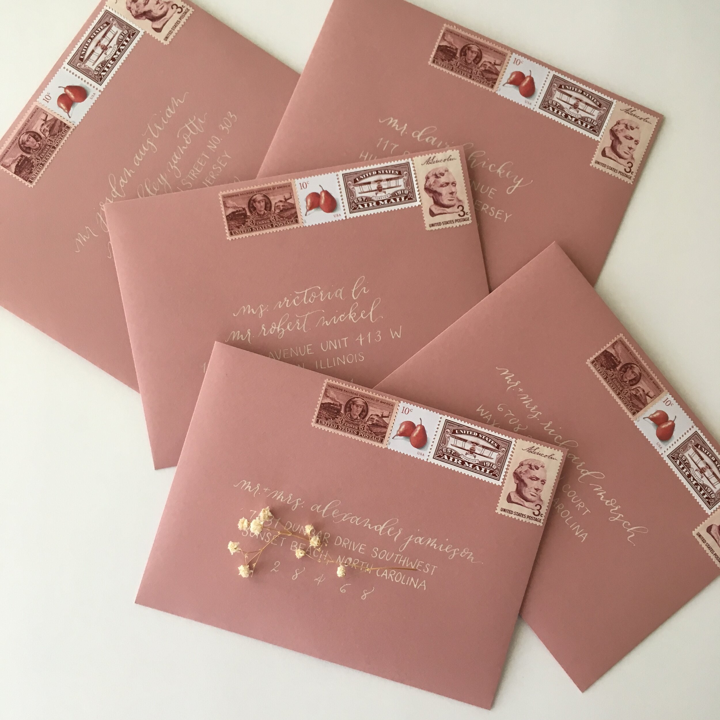 Raleigh Calligraphy & Design Custom Wedding Invitations