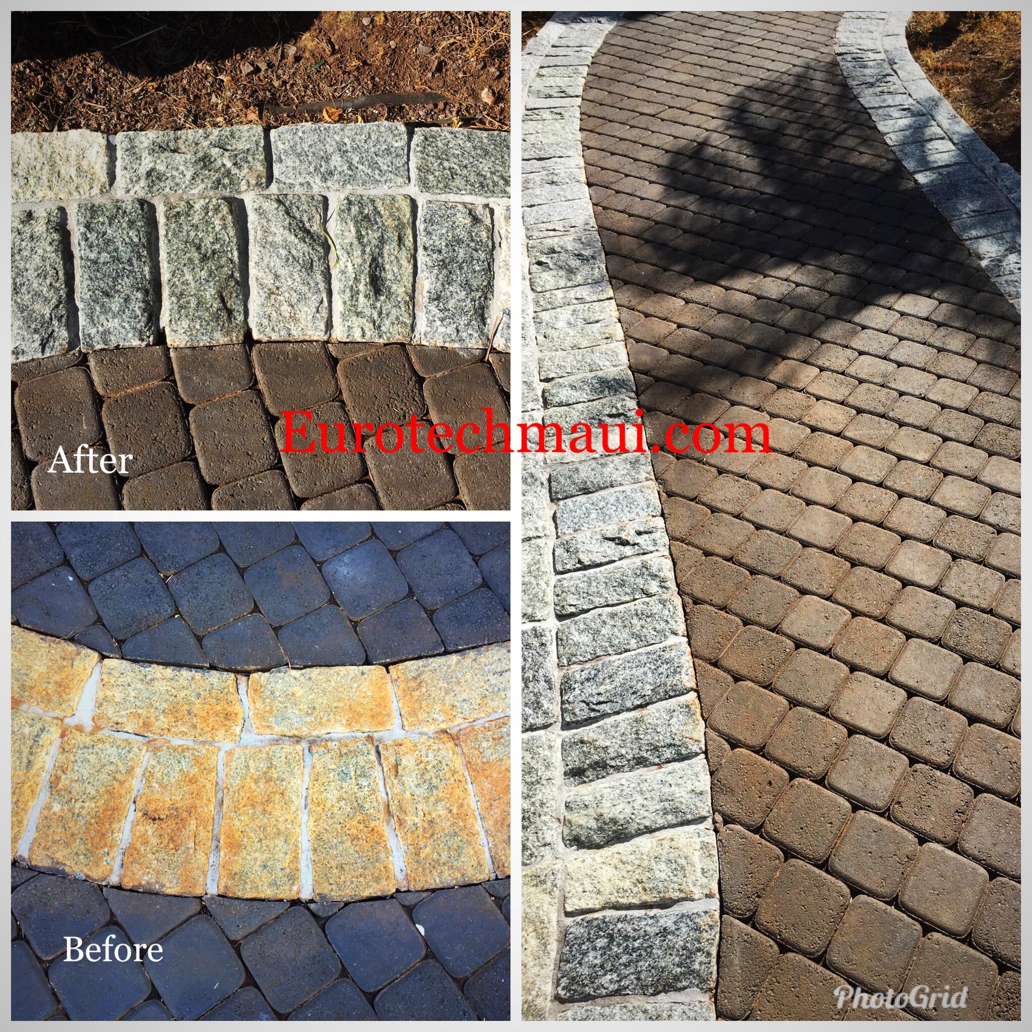 color restoration of exterior pavers
