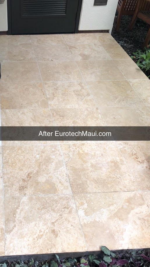 travertine stain removal after eurotech