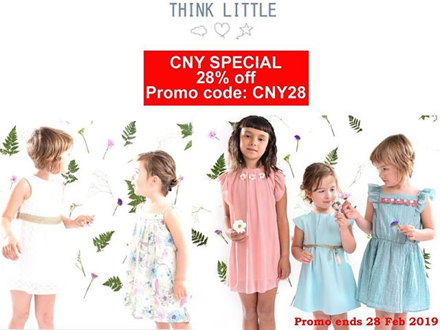 Shop Chinese New Year 2019 collection at 28% off! Outfits for girls from ages 1-10 years old.  Enter promo code CNY28 https://www.thinklittle-bcn.com/shop/