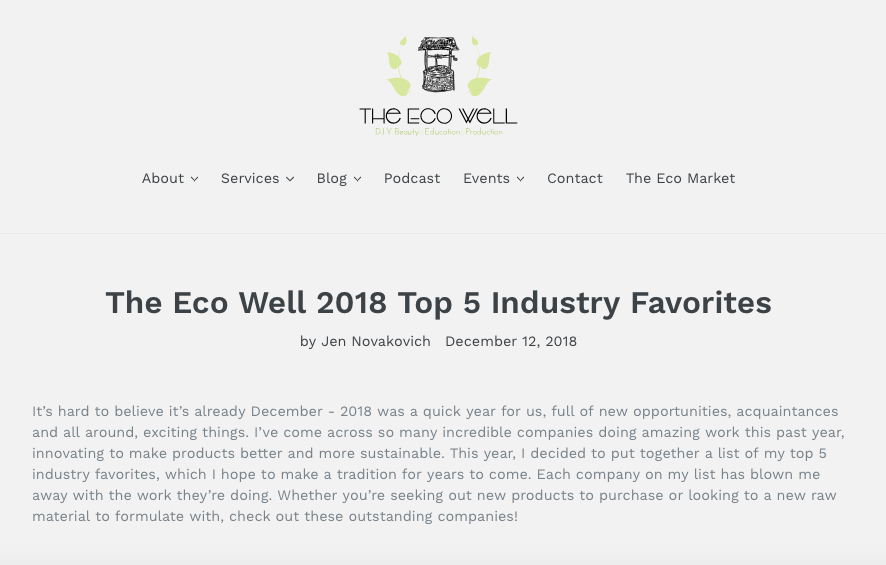 The eco well -