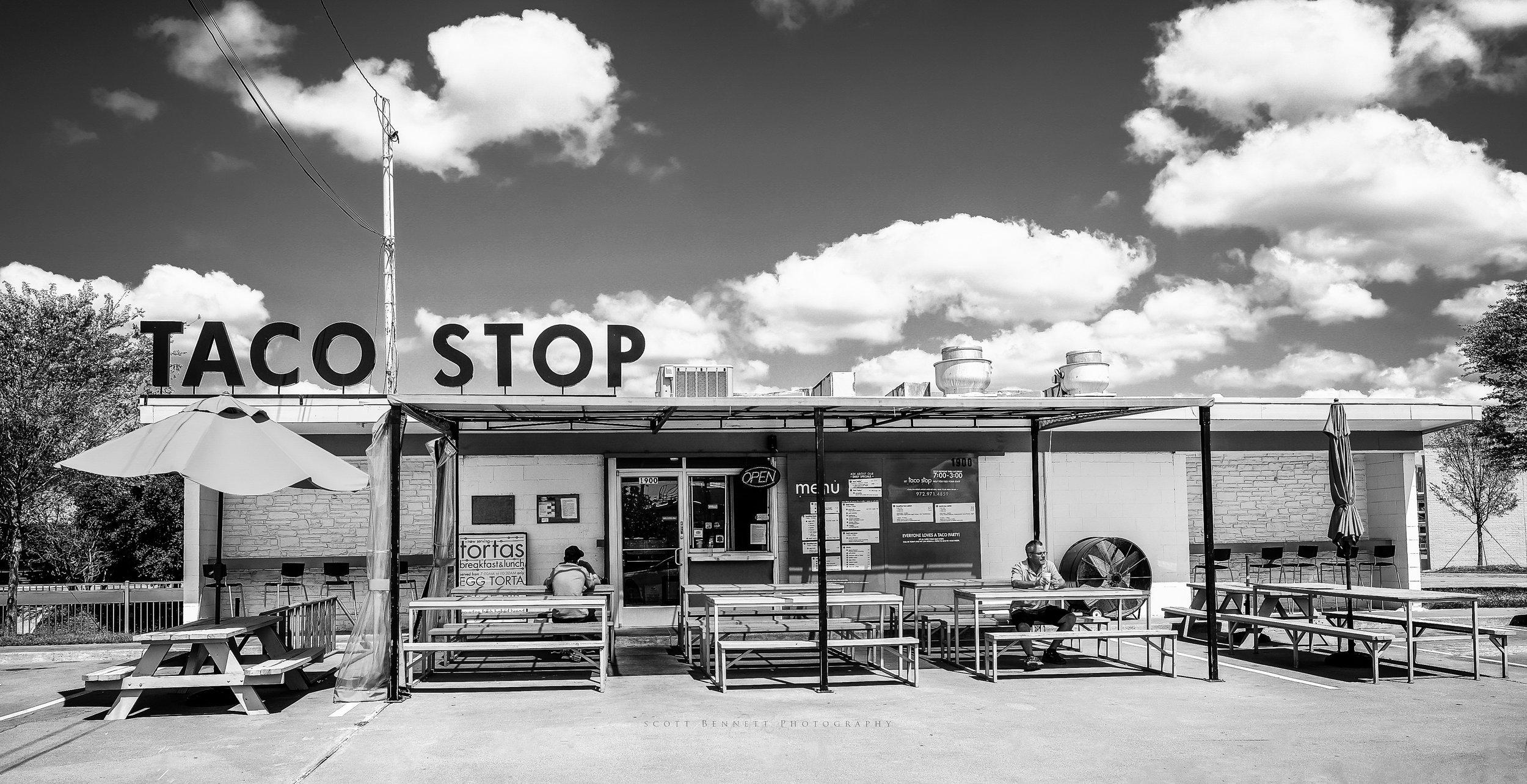 Taco Stop BW.jpg