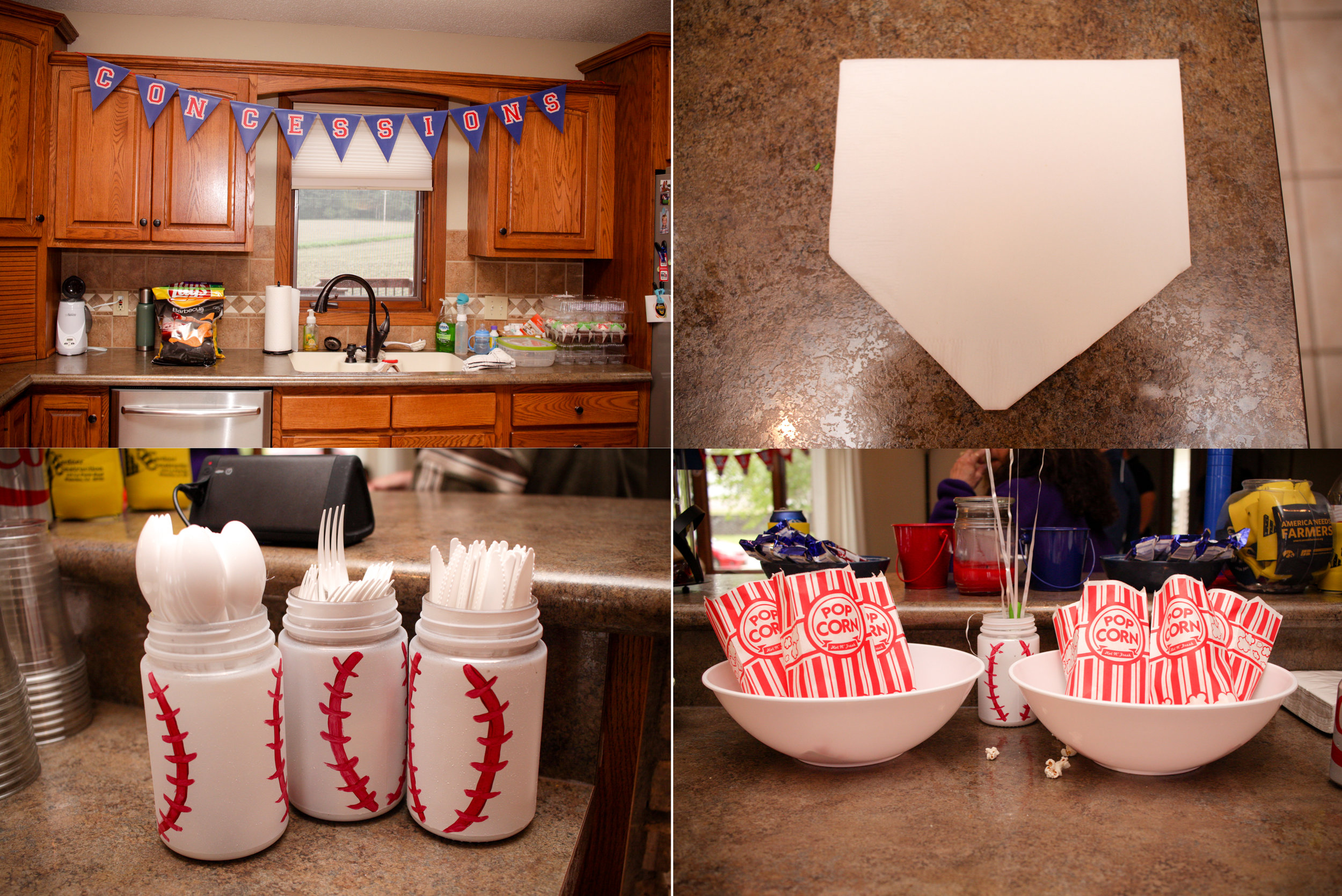The decorations were on point! His mom even transformed the napkins into a home plate - how cute is that?!