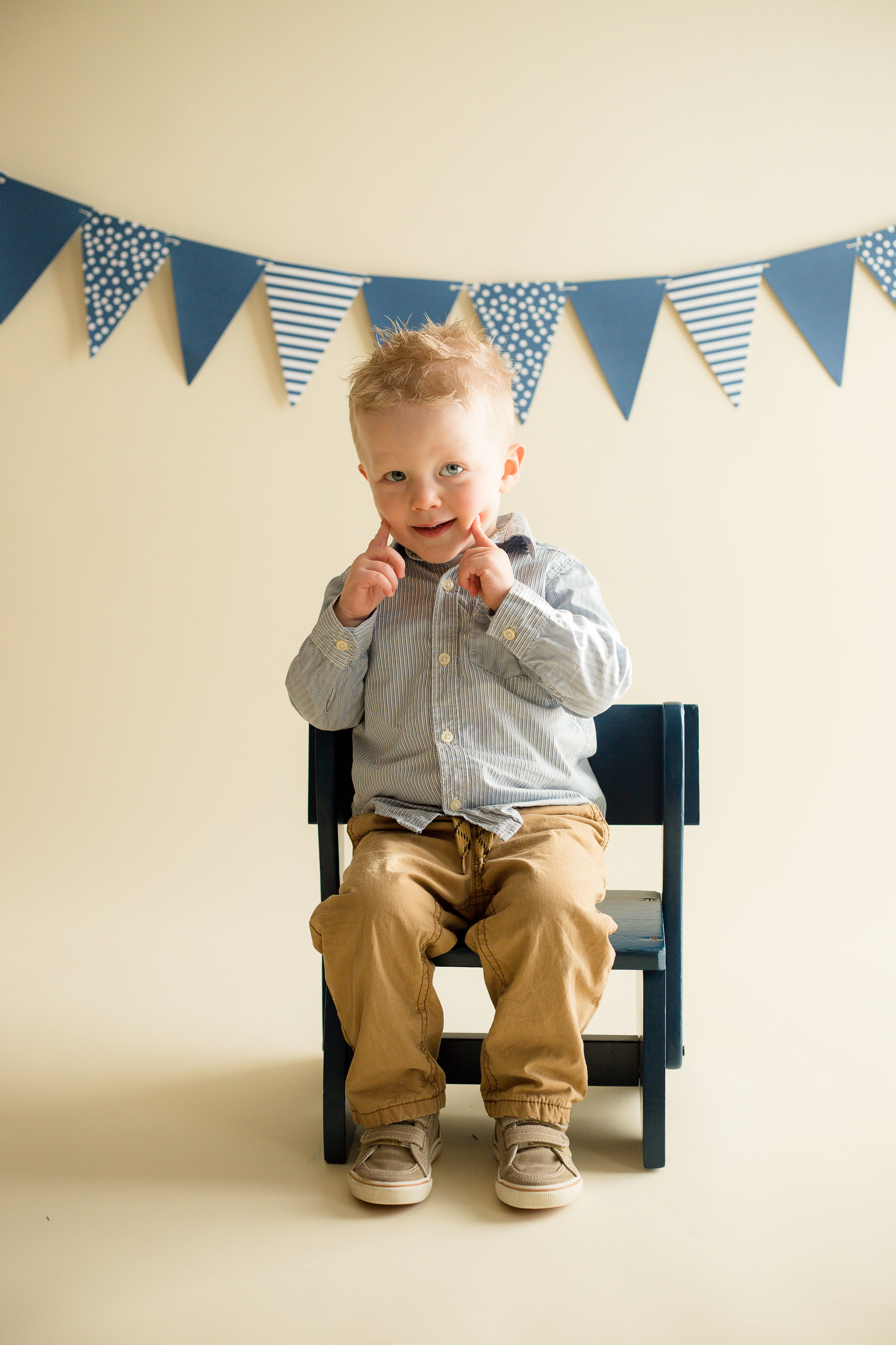 """At age two, Jack is into TV shows  Puppy Dog Pals  and  Mickey Mouse . He also likes to sing nursery rhymes such as """"If You're Happy and You Know It,""""""""Twinkle, Twinkle Little Star,""""and """"Itsy Bitsy Spider."""" During this photo, he sang and did the moves to """"If You're Happy and You Know It."""""""
