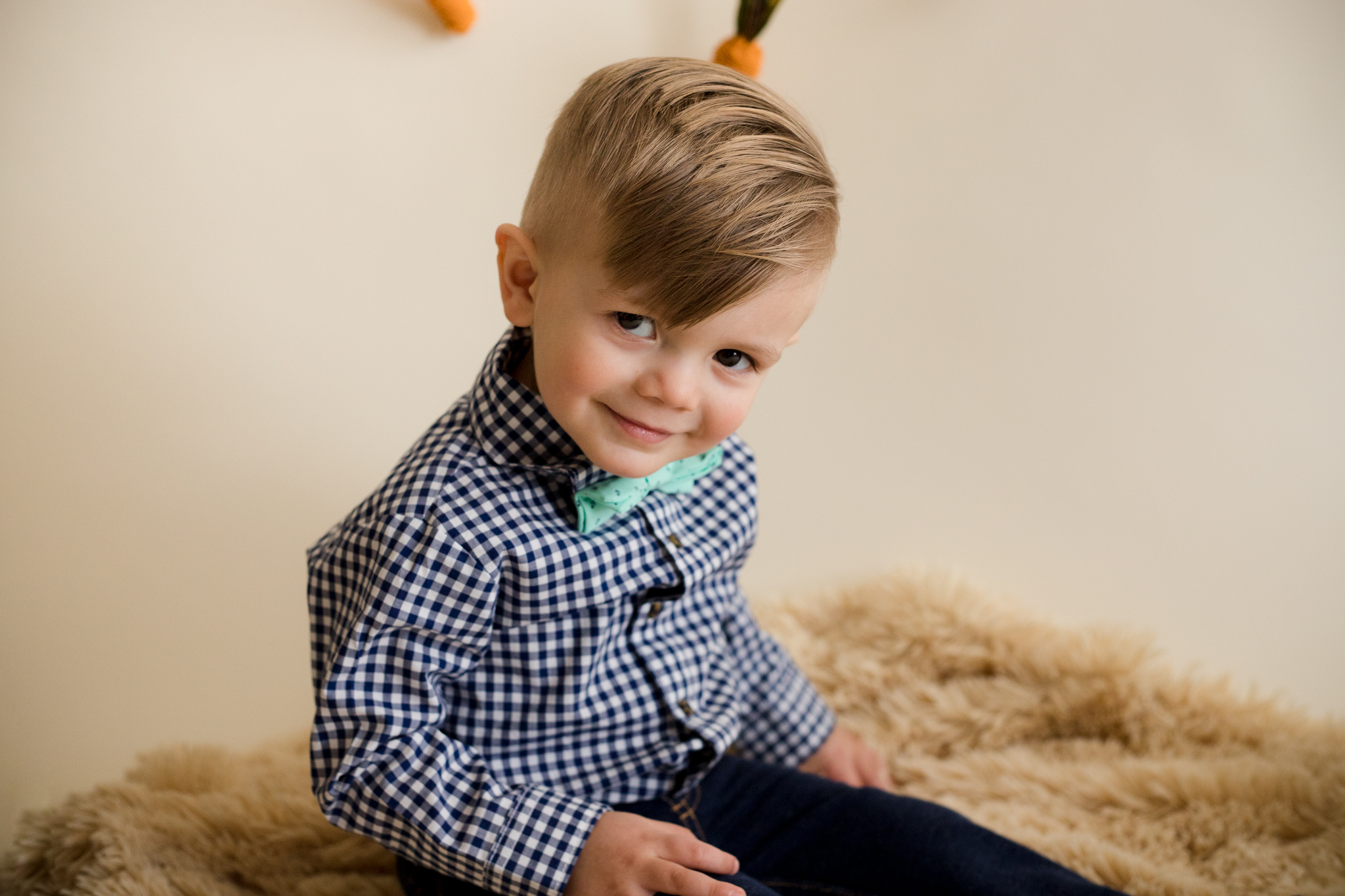 Boy posing for picture in Cedar Rapids, Iowa.