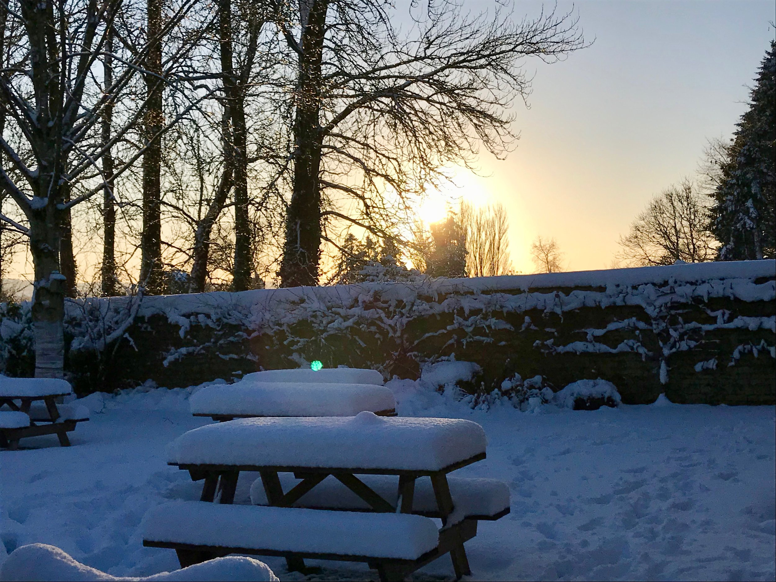Bit chilly for a pint in the beer garden