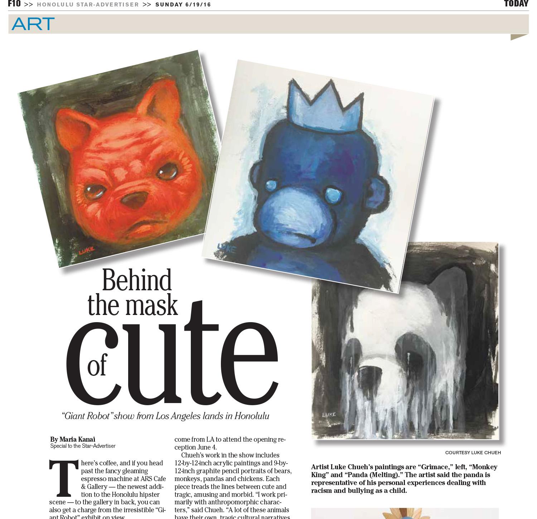 Honolulu Star Advertiser - Behind The Mask Of Cute