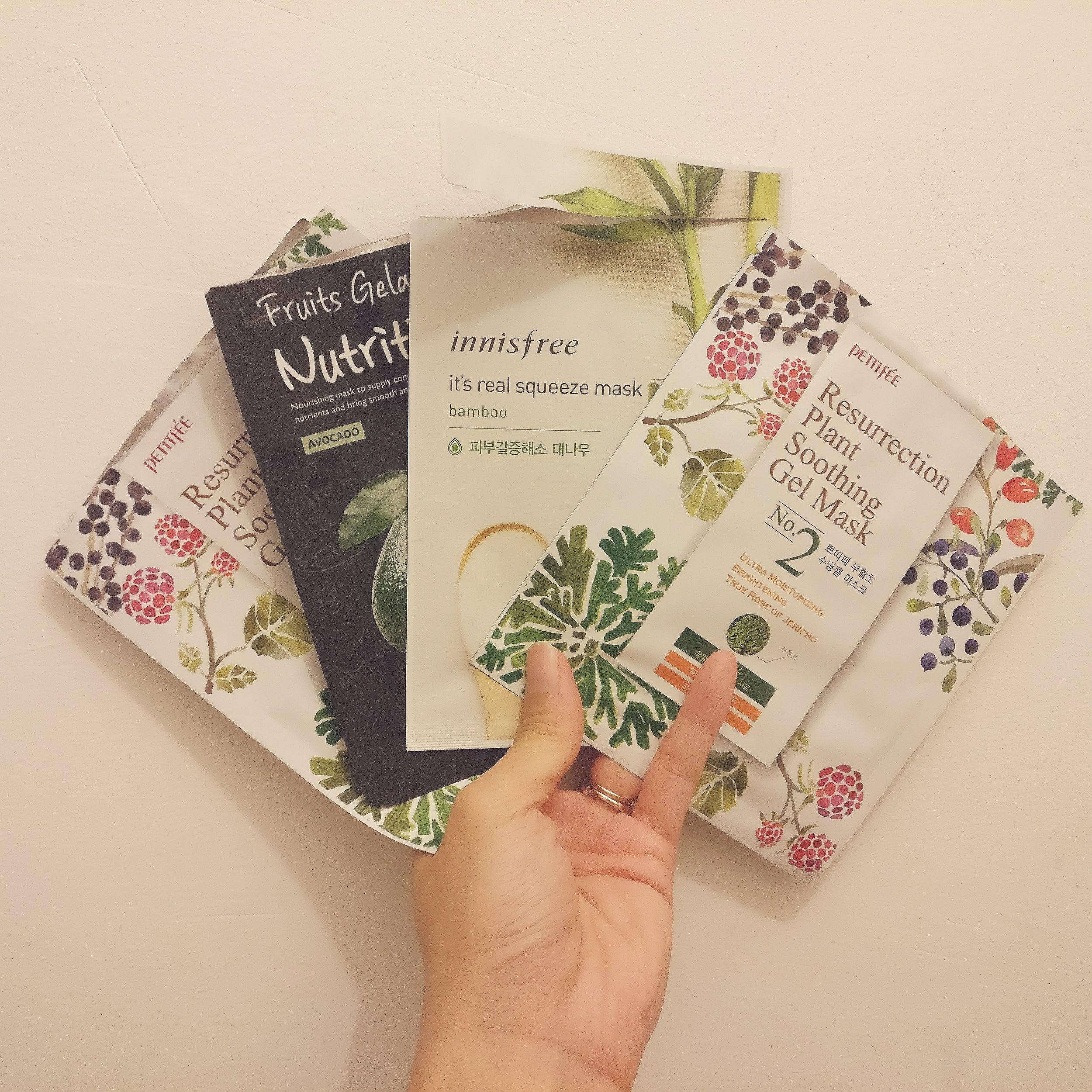 I have an ongoing collection of these packets where I've used the mask and the serum remains