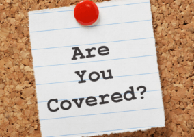 "Post-it note ""are you covered"""