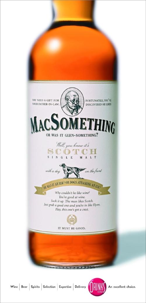 Bona Fide Creative beverage advertising scotch label MacSomething