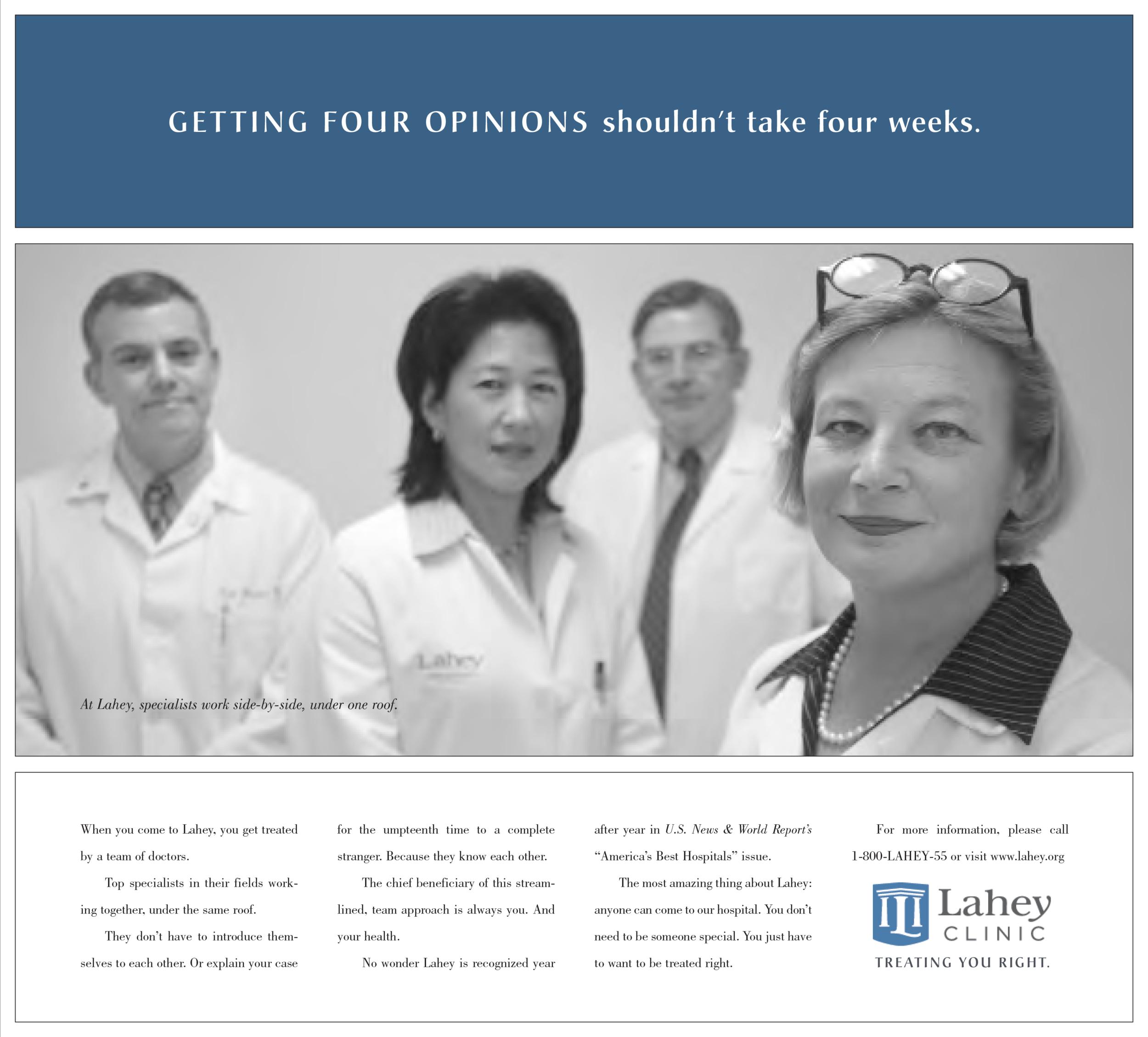 Lahey Bona Fide healthcare advertising team approach