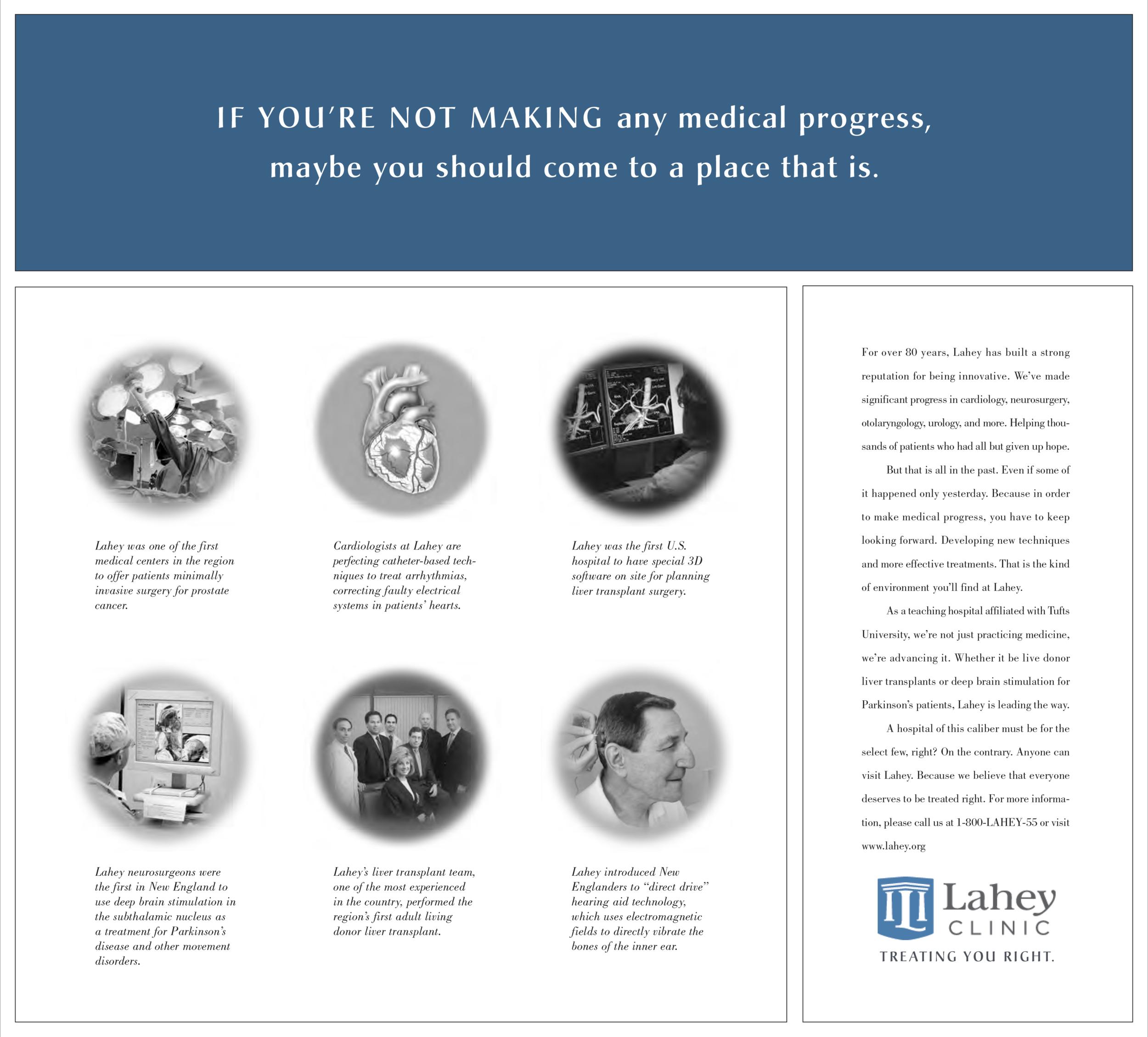 Lahey Health Bona Fide Creative medical progress