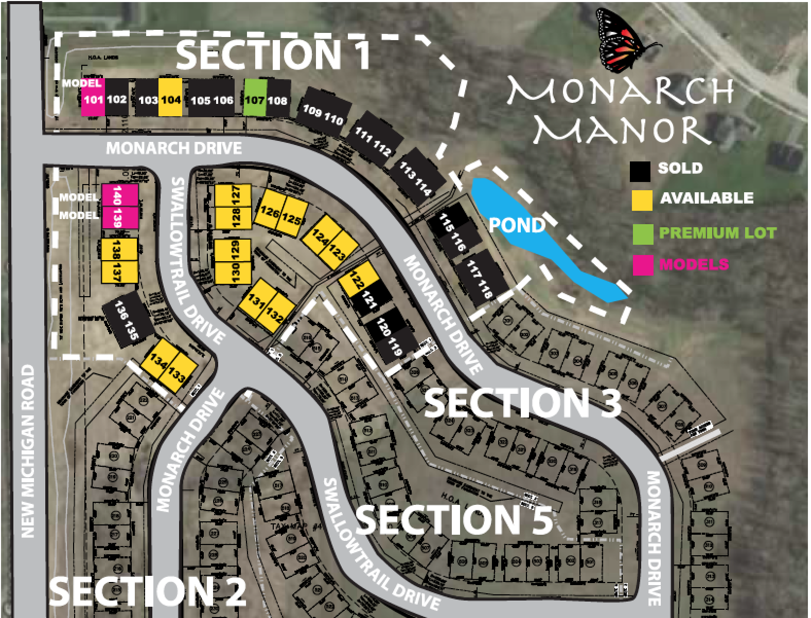 MONARCH MANOR SITE MAP