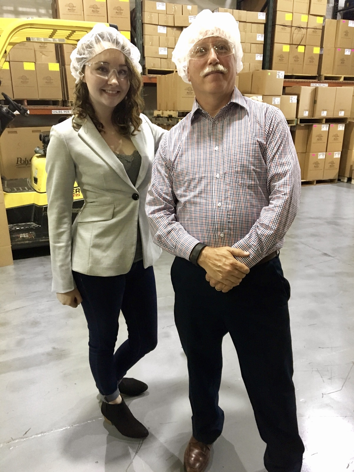 My boss and me prior to going into our client's 'clean room'